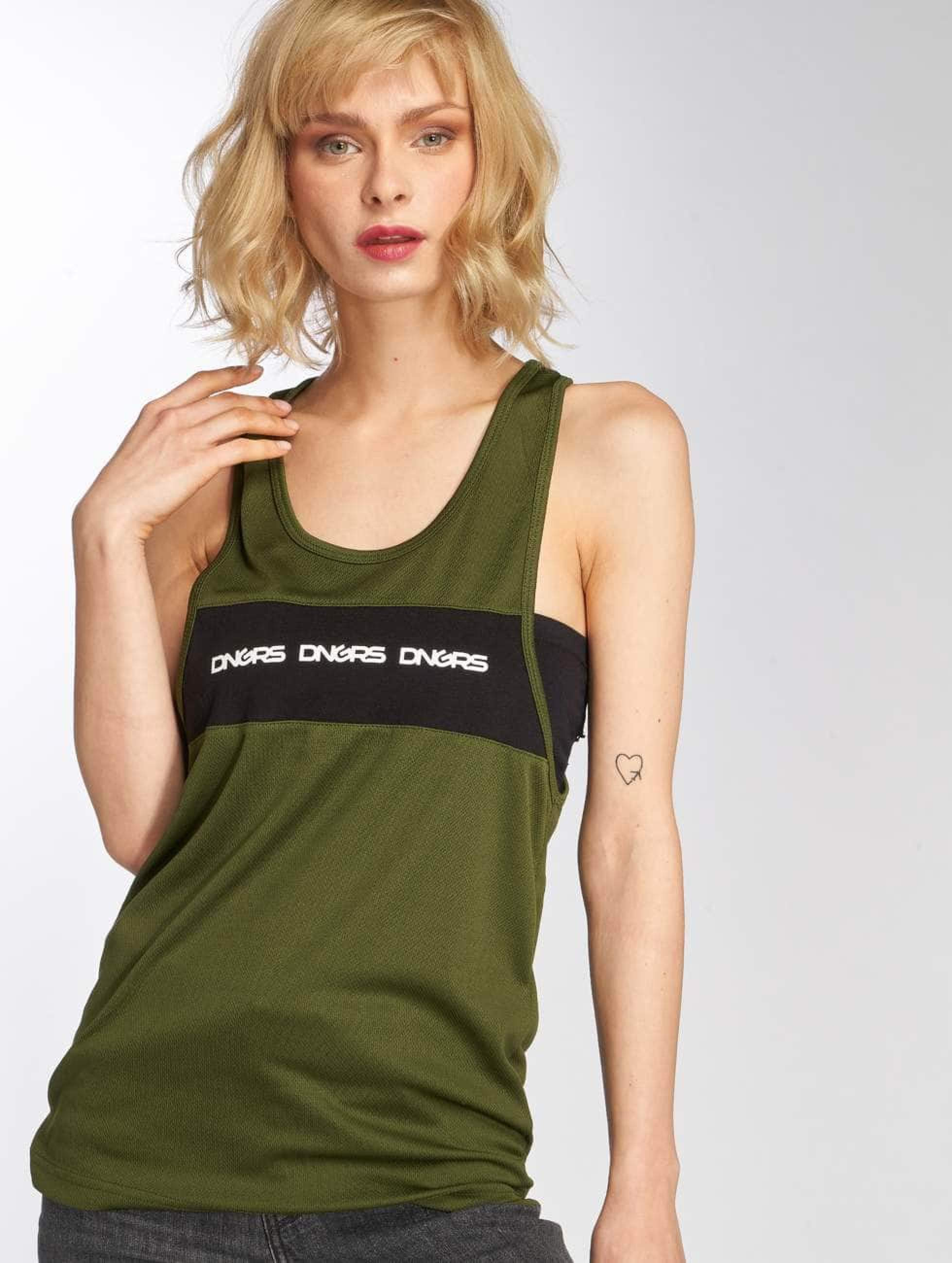 Dangerous DNGRS / Tank Tops Vista in olive XS