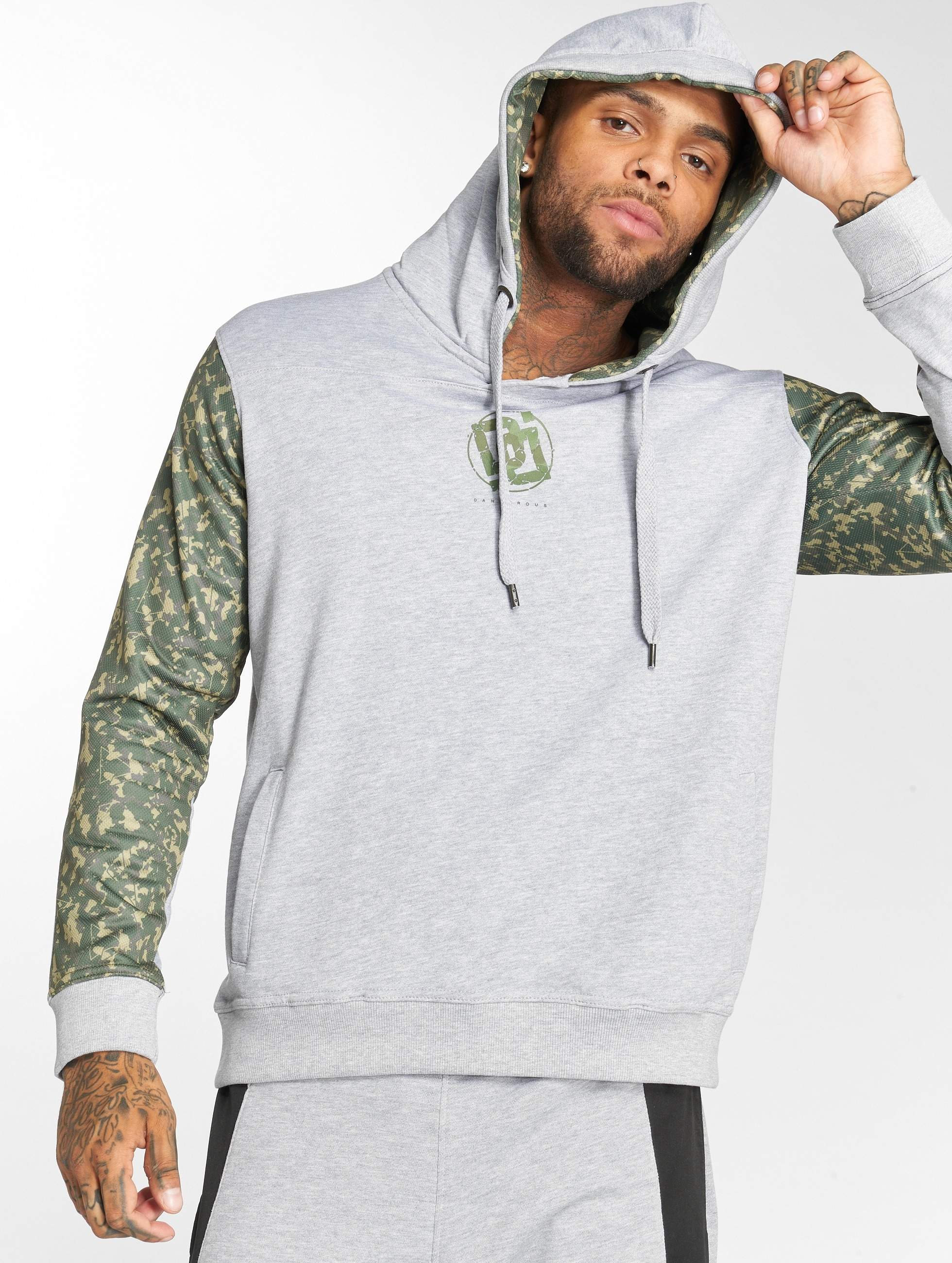 Dangerous DNGRS / Hoodie Broker in grey S