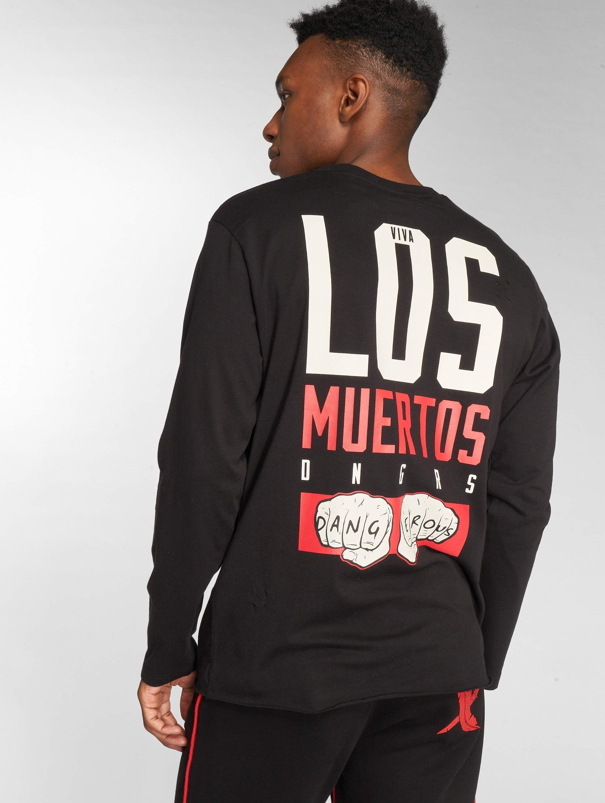 Dangerous DNGRS / Longsleeve LosMuertos in black S