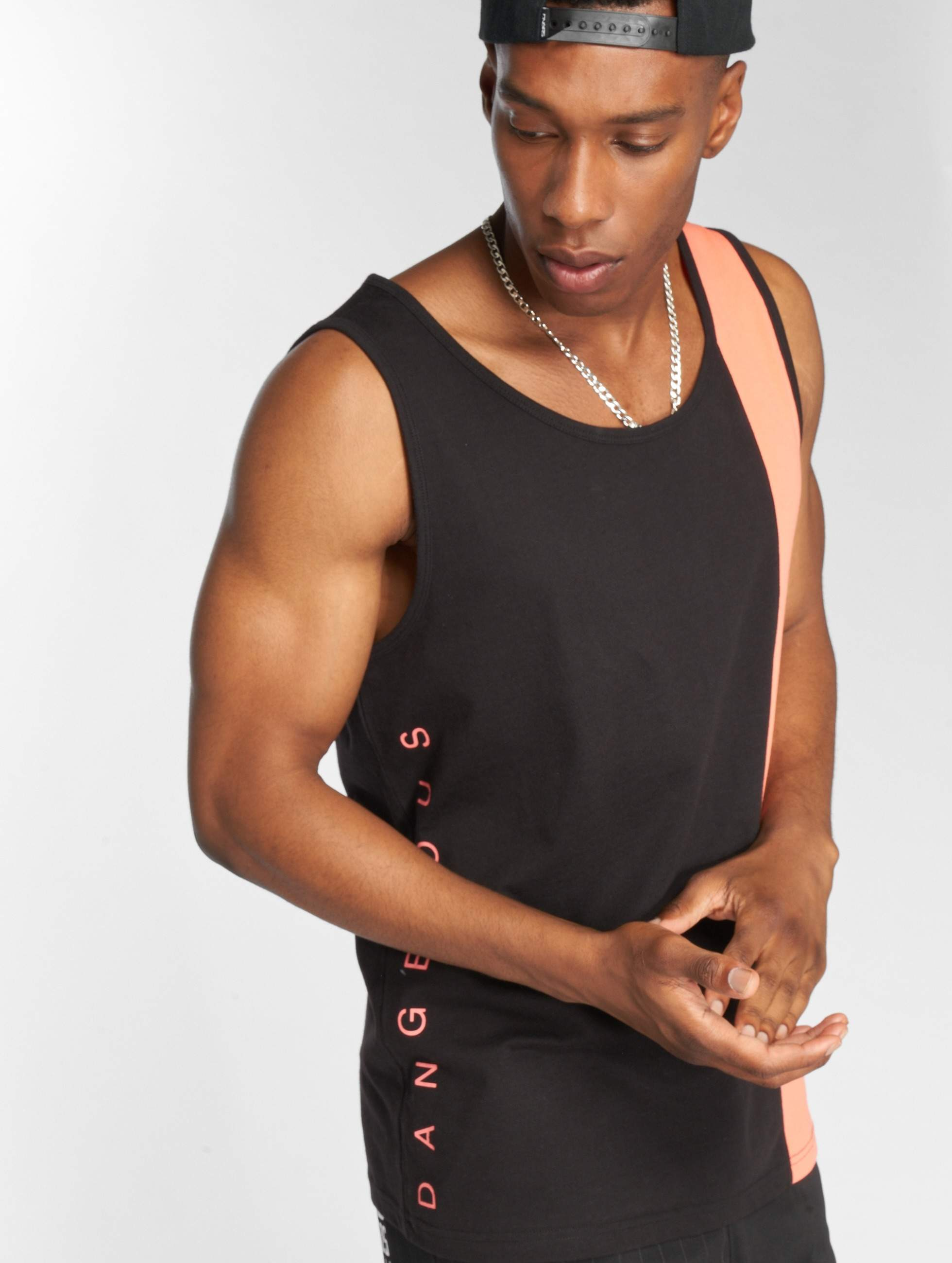Dangerous DNGRS / Tank Tops Brook in black 3XL