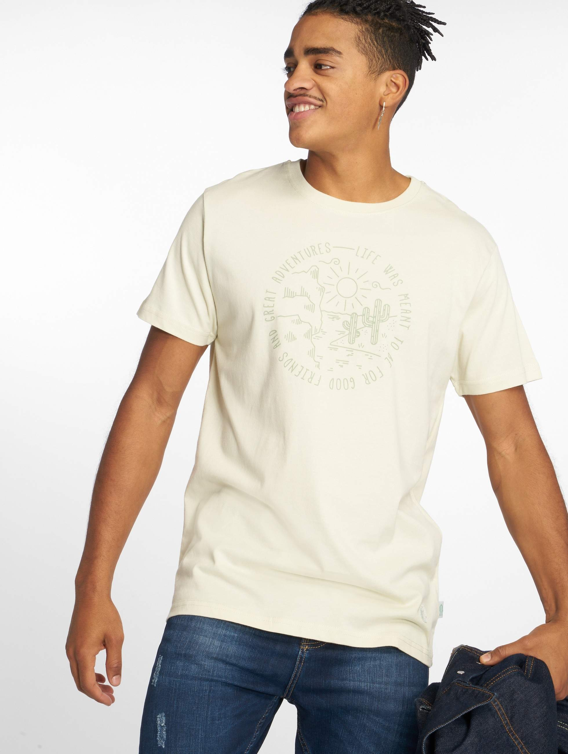 Just Rhyse / T-Shirt Sant Lucia in white 3XL