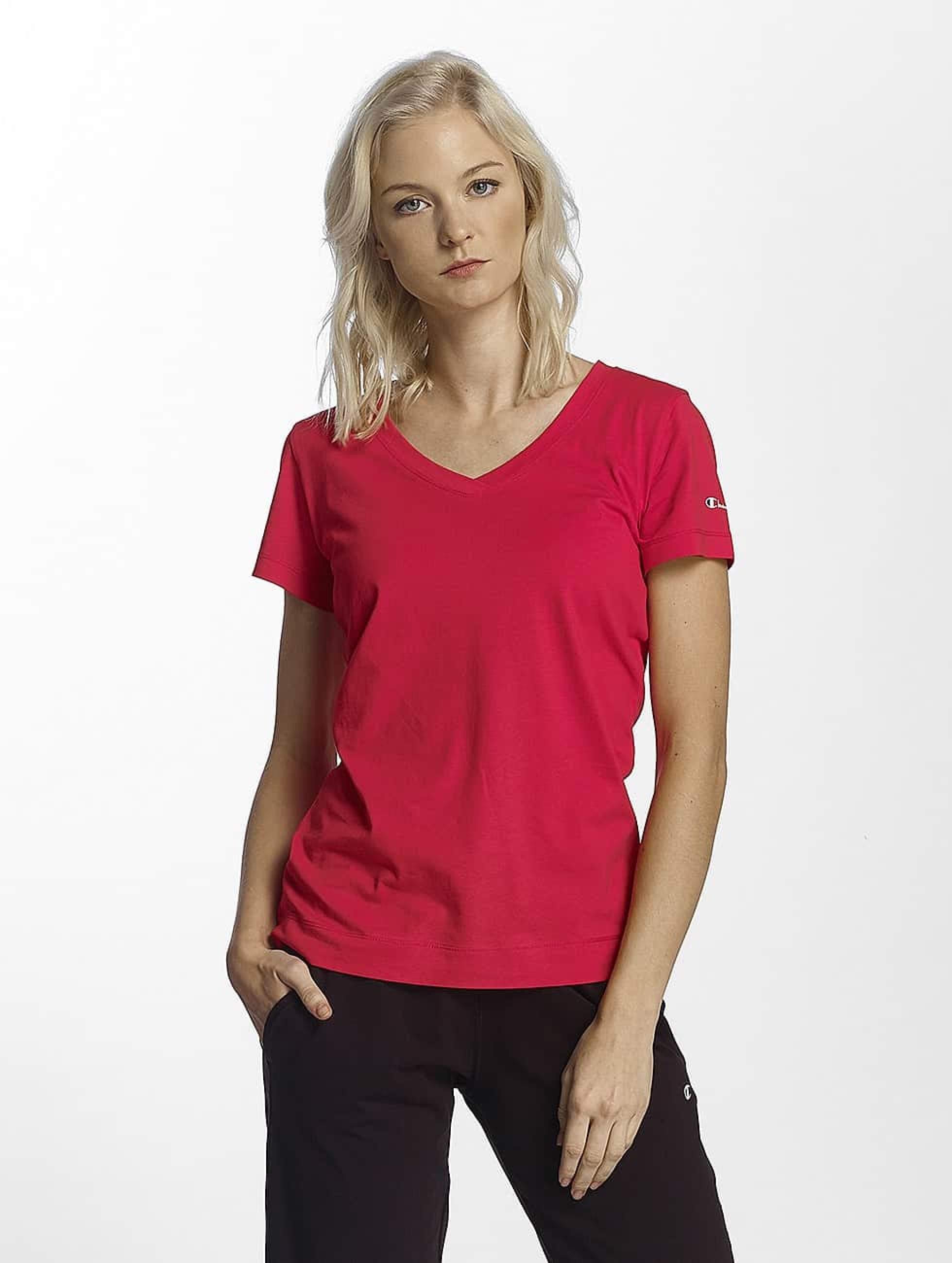 Champion Athletics Frauen T-Shirt V-Neck T-Shirt Llr in rot