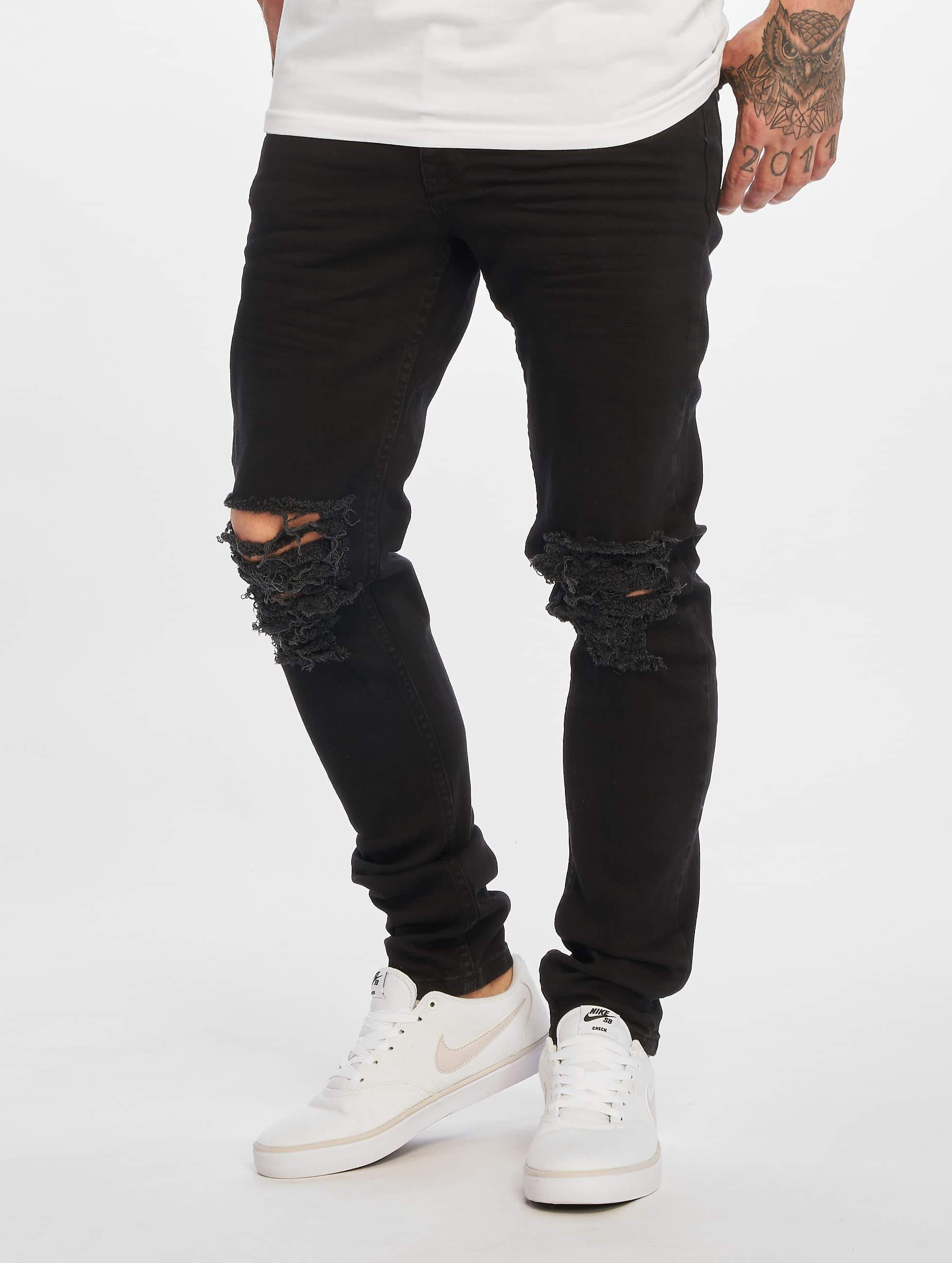DEF / Slim Fit Jeans Jonny in black W 38 L 34