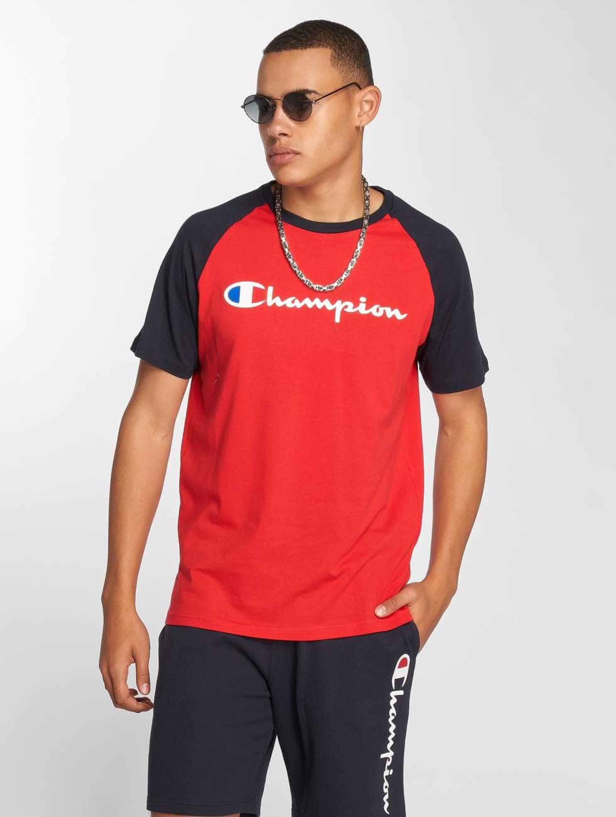 Champion Athletics Männer T-Shirt Crew Neck in rot