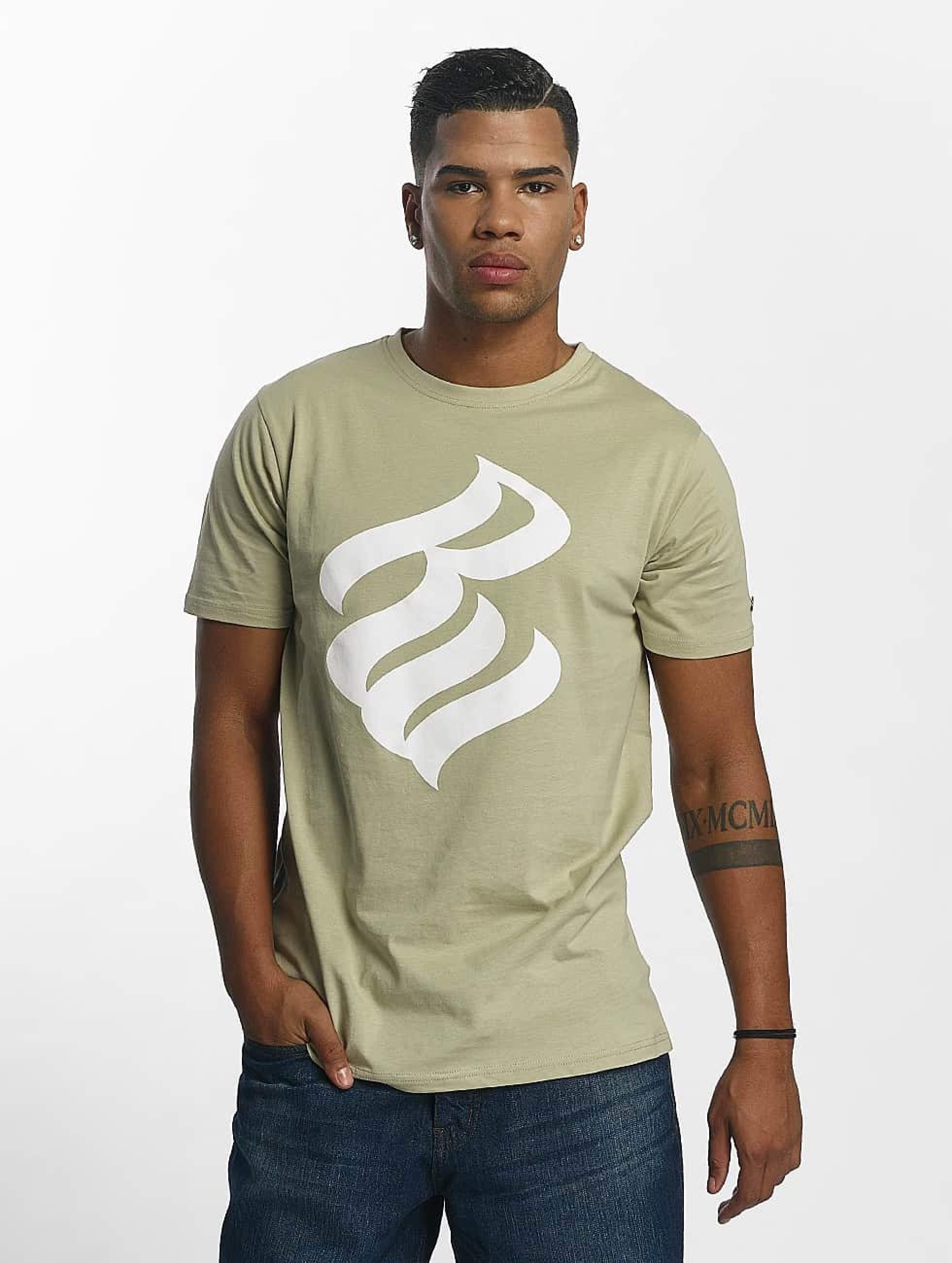 Rocawear / T-Shirt Logo in khaki XL