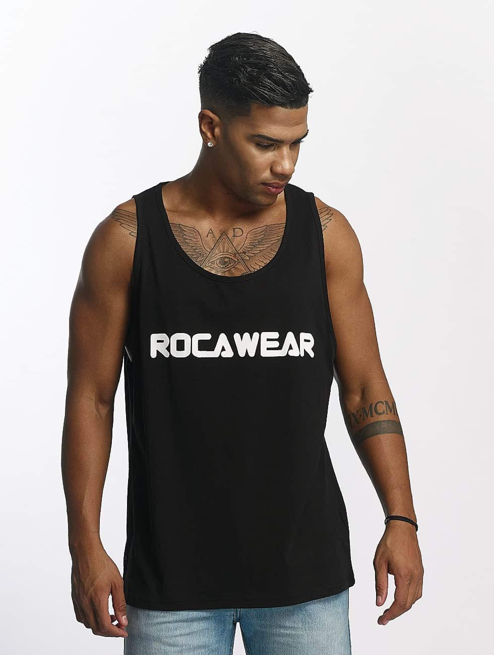 Rocawear / Tank Tops Color Block in black 2XL