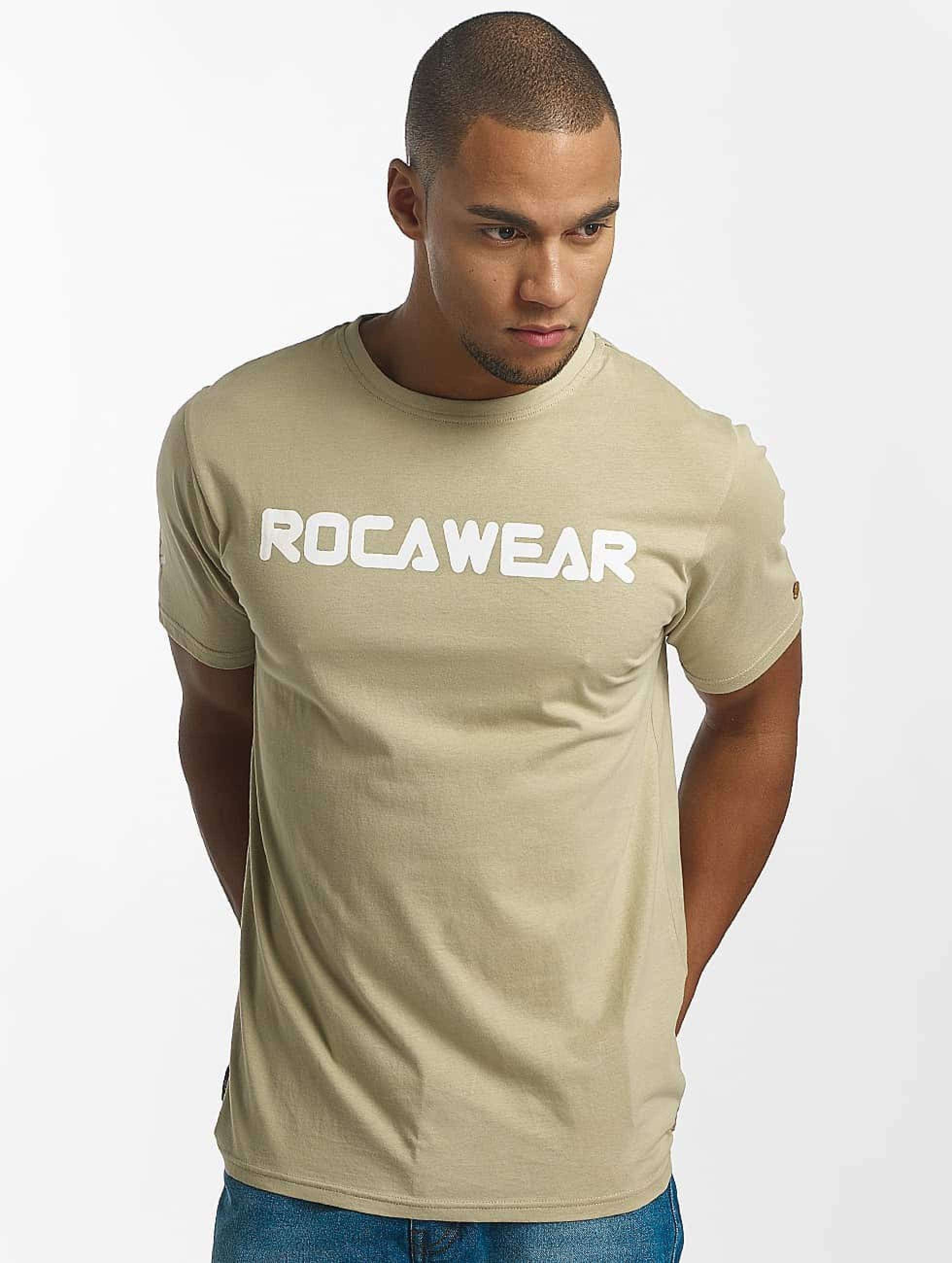Rocawear / T-Shirt Color Block in khaki 3XL