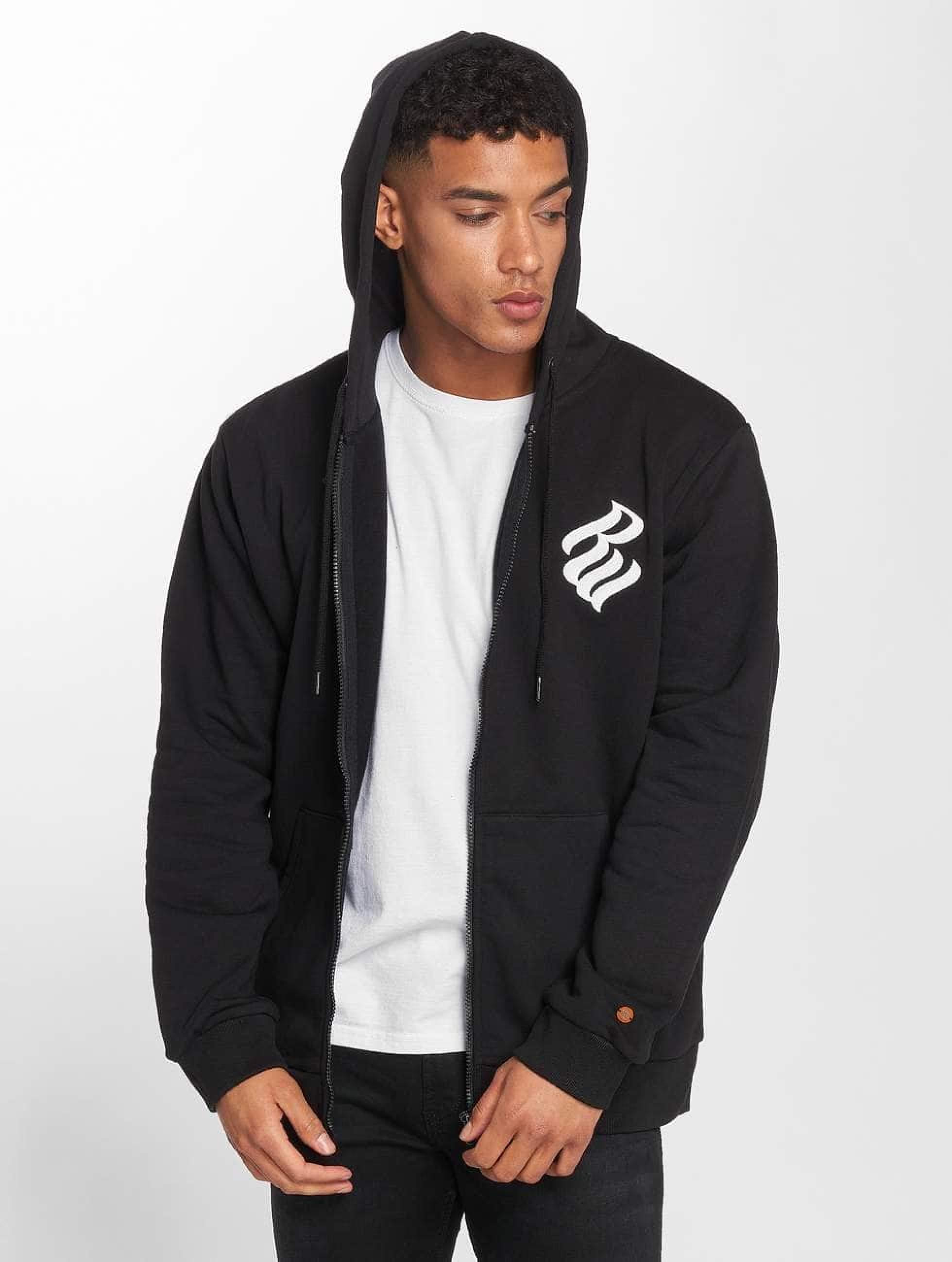Rocawear / Zip Hoodie Brand in black 5XL