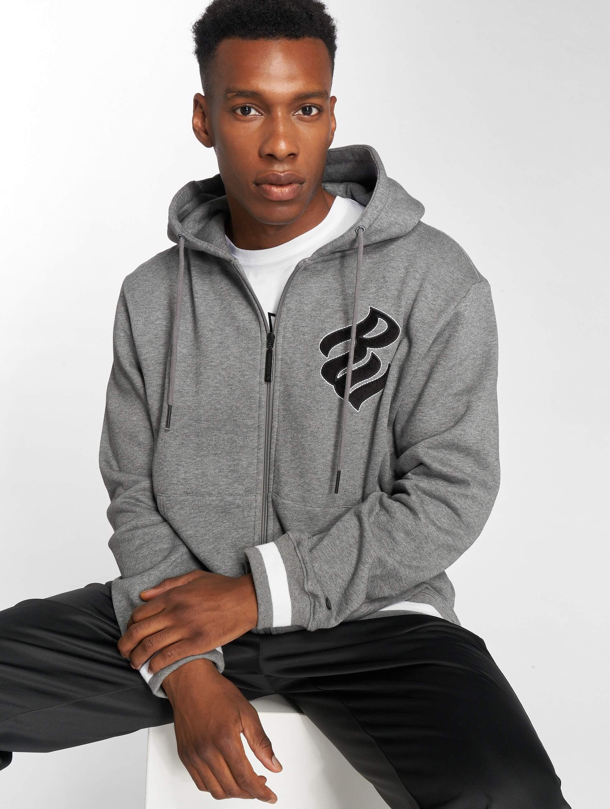 Rocawear / Zip Hoodie Logo in grey S