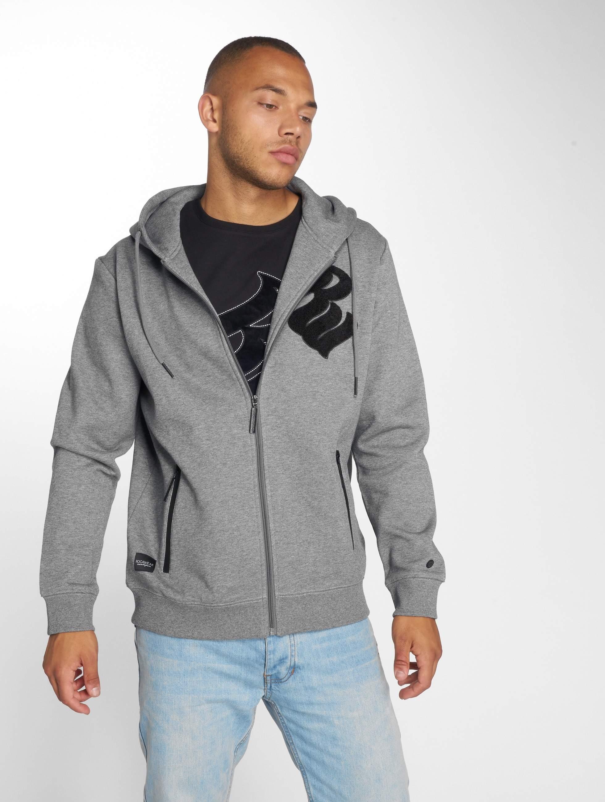 Rocawear / Zip Hoodie Logo in grey XL