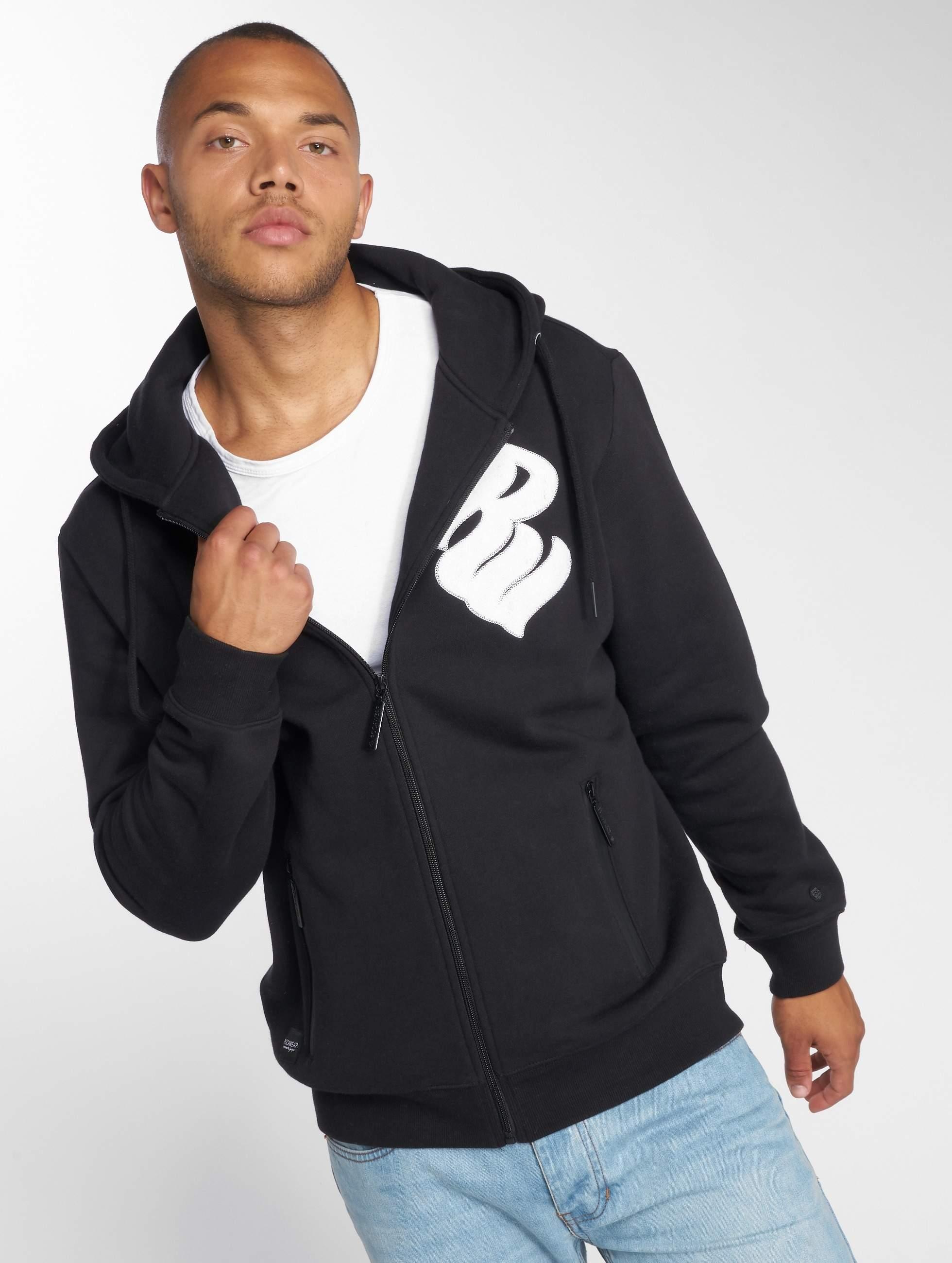 Rocawear / Zip Hoodie Logo in black XL