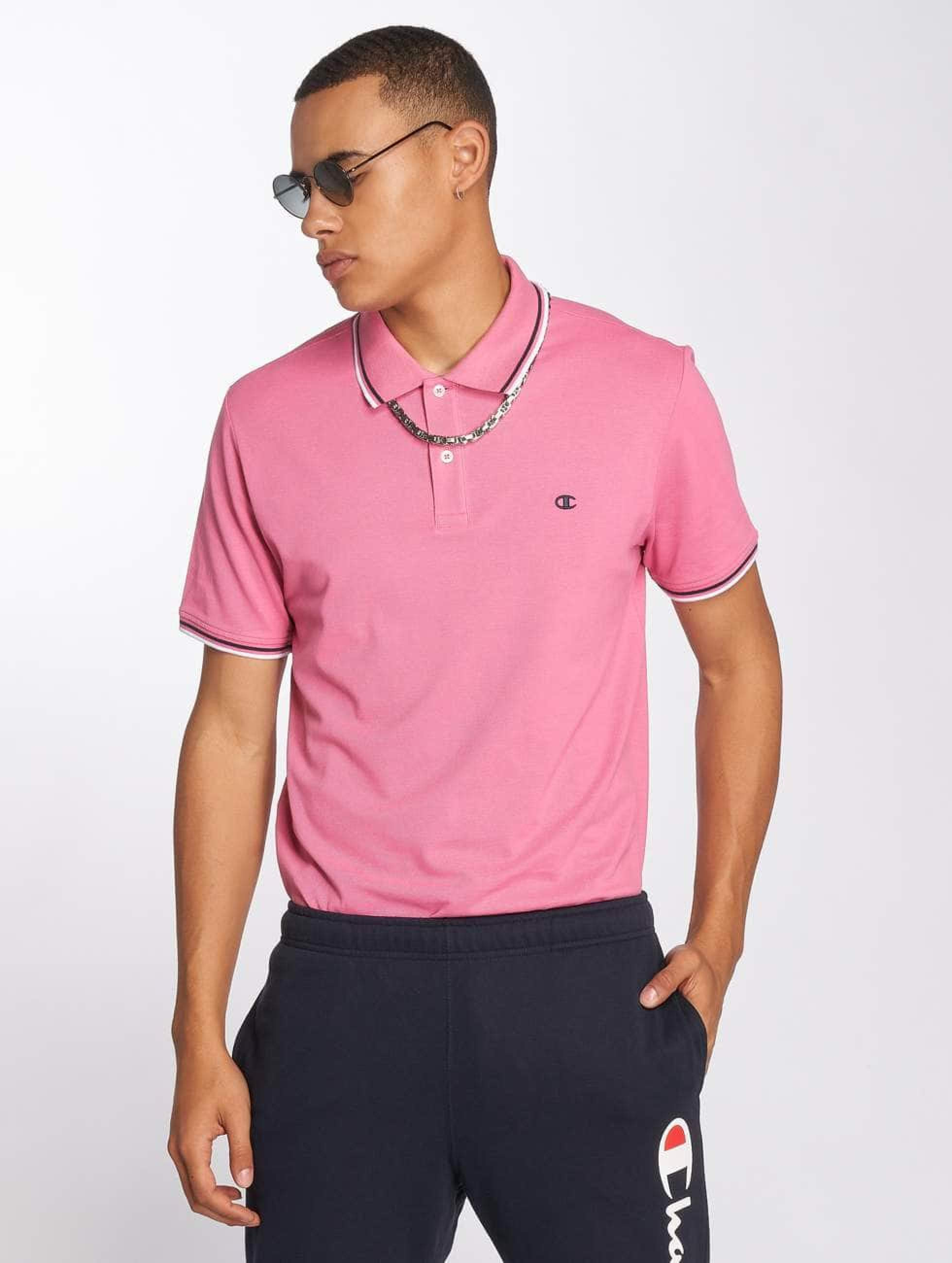 Champion Athletics Männer Poloshirt Authentic Athletic Apparel in rosa