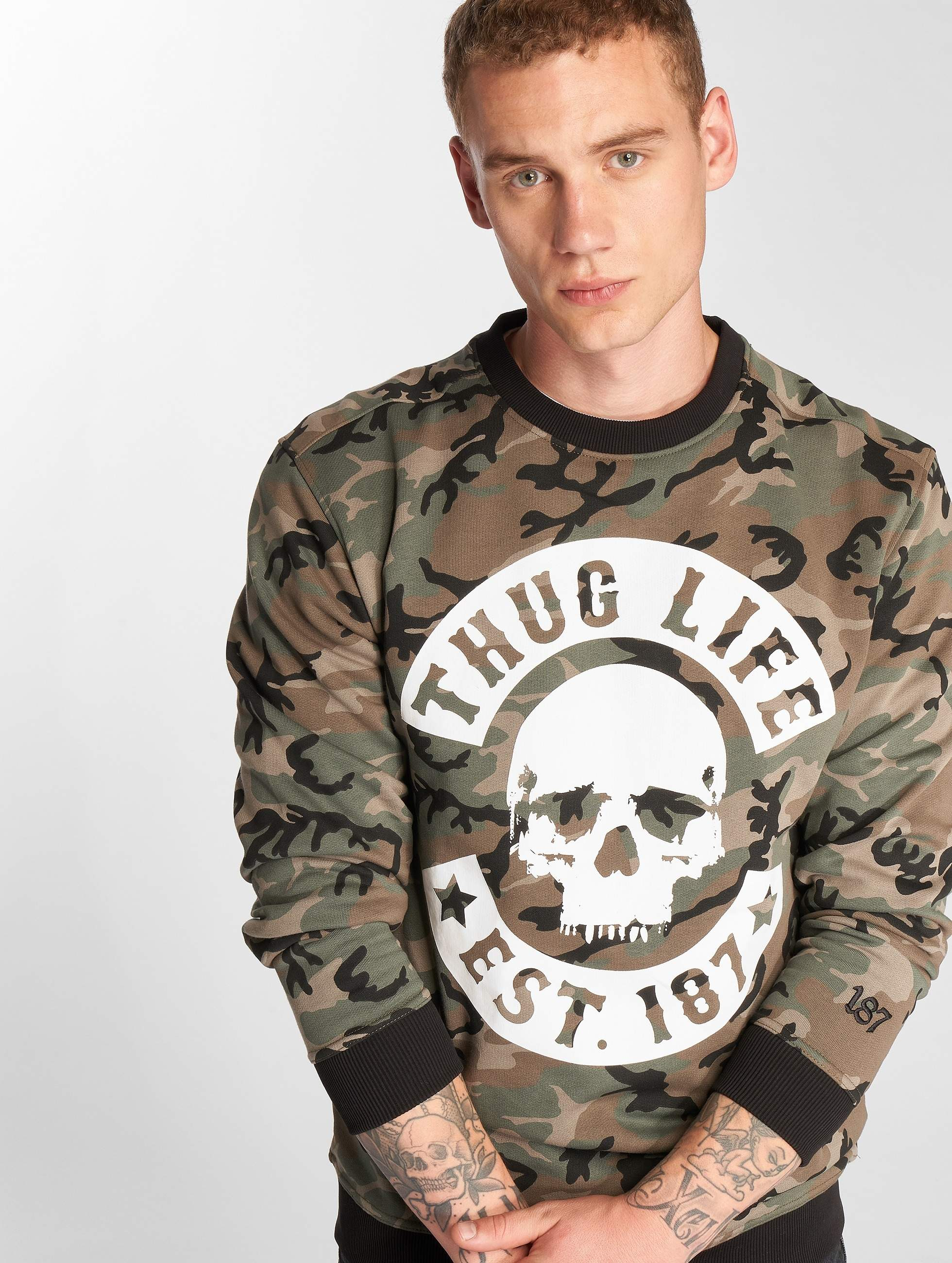 Thug Life / Jumper B.Camo in camouflage 4XL