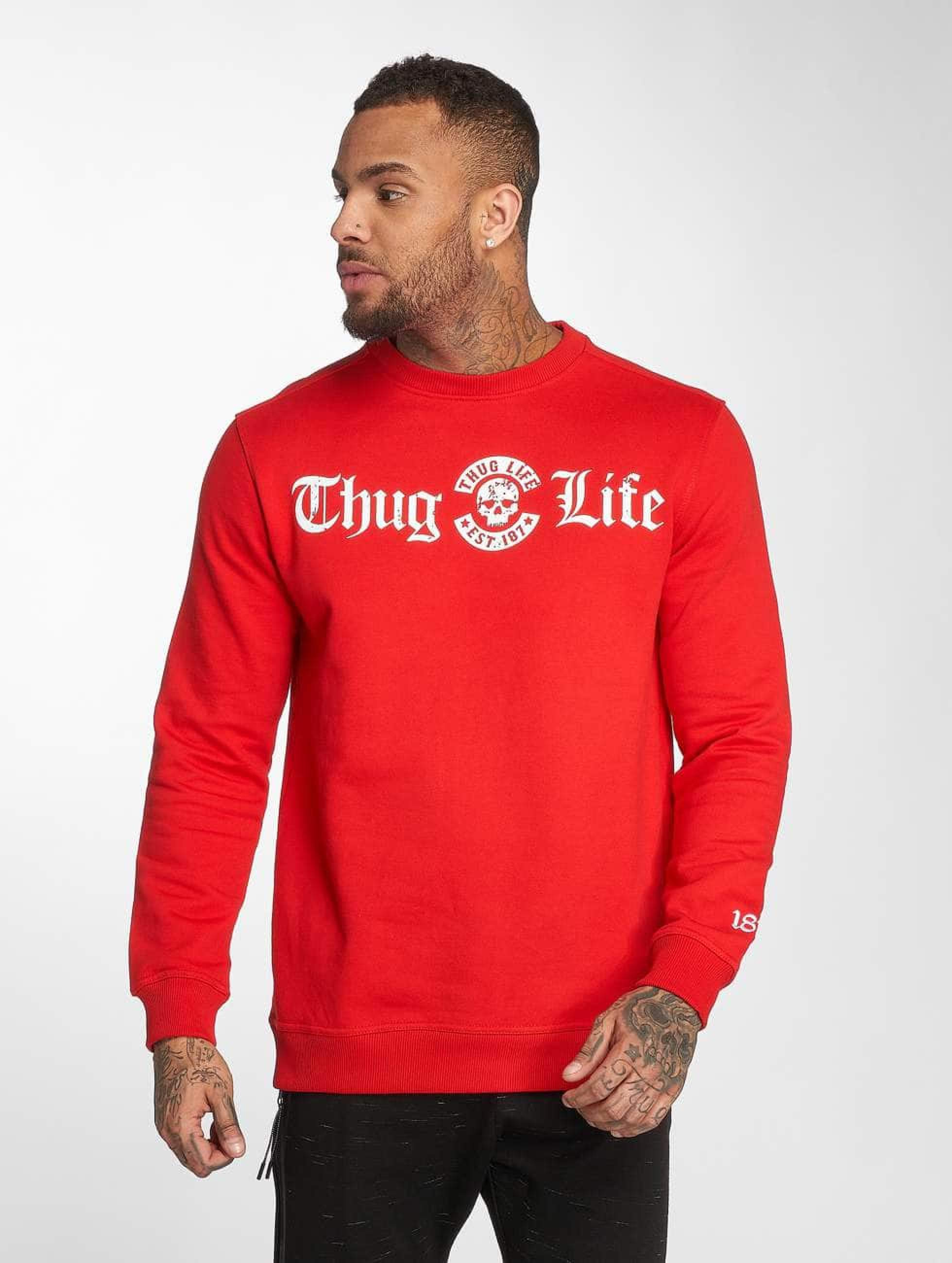Thug Life / Jumper B.Distress in red 3XL