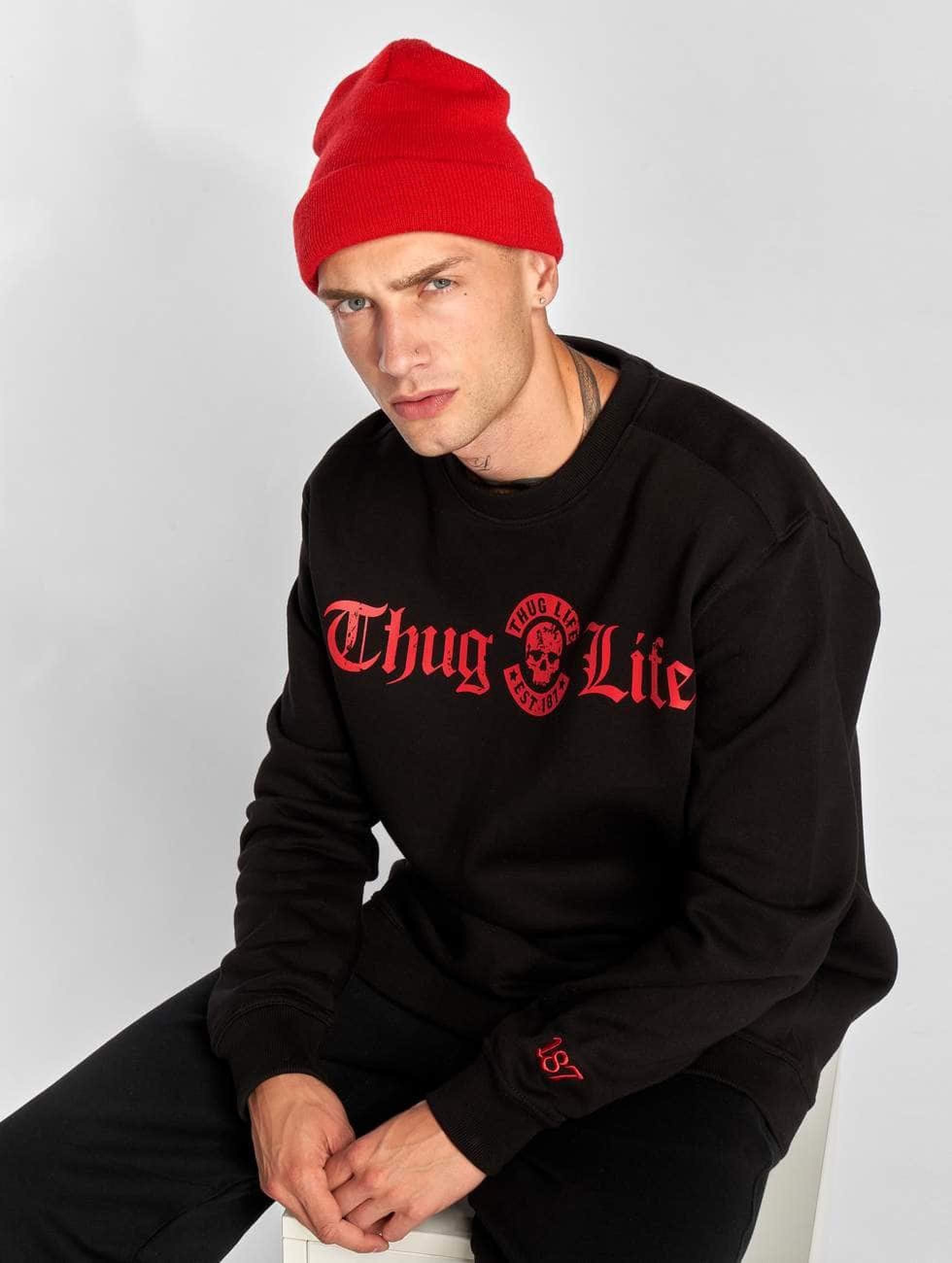 Thug Life / Jumper B.Distress in black 6XL
