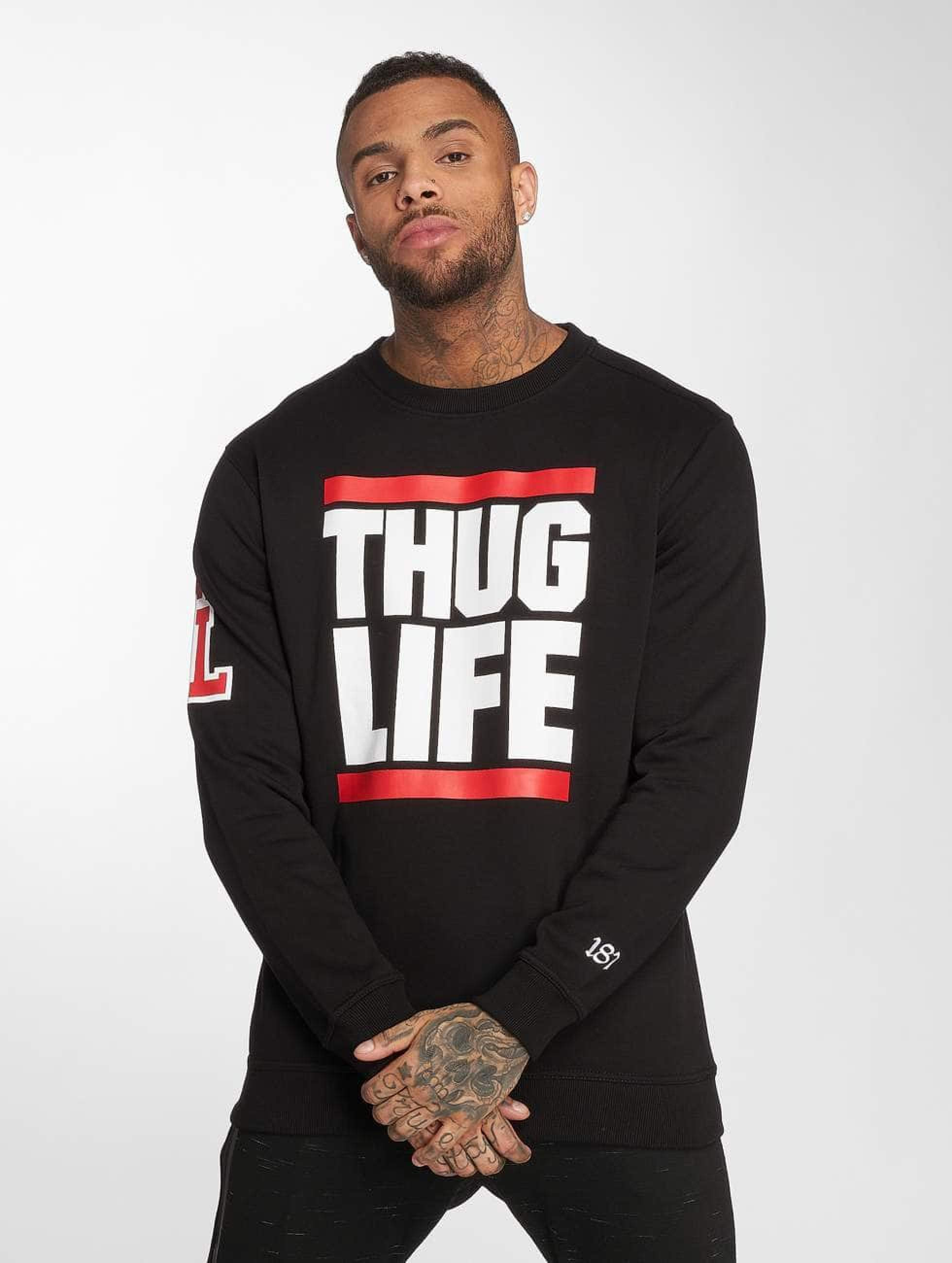 Thug Life / Jumper B.Fight in black 5XL
