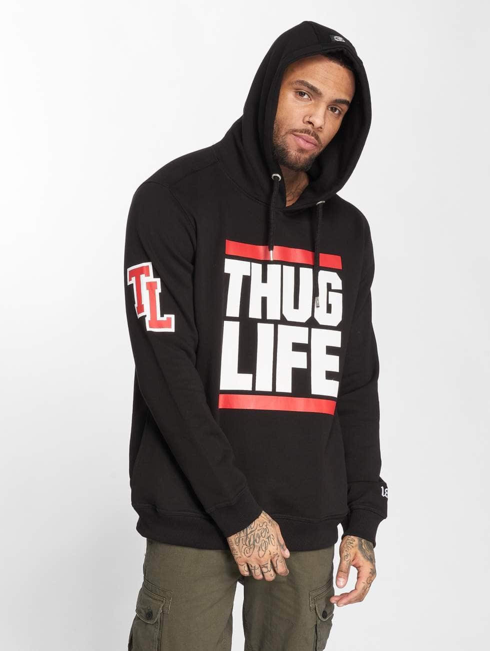 Thug Life / Hoodie B.Fight in black 5XL