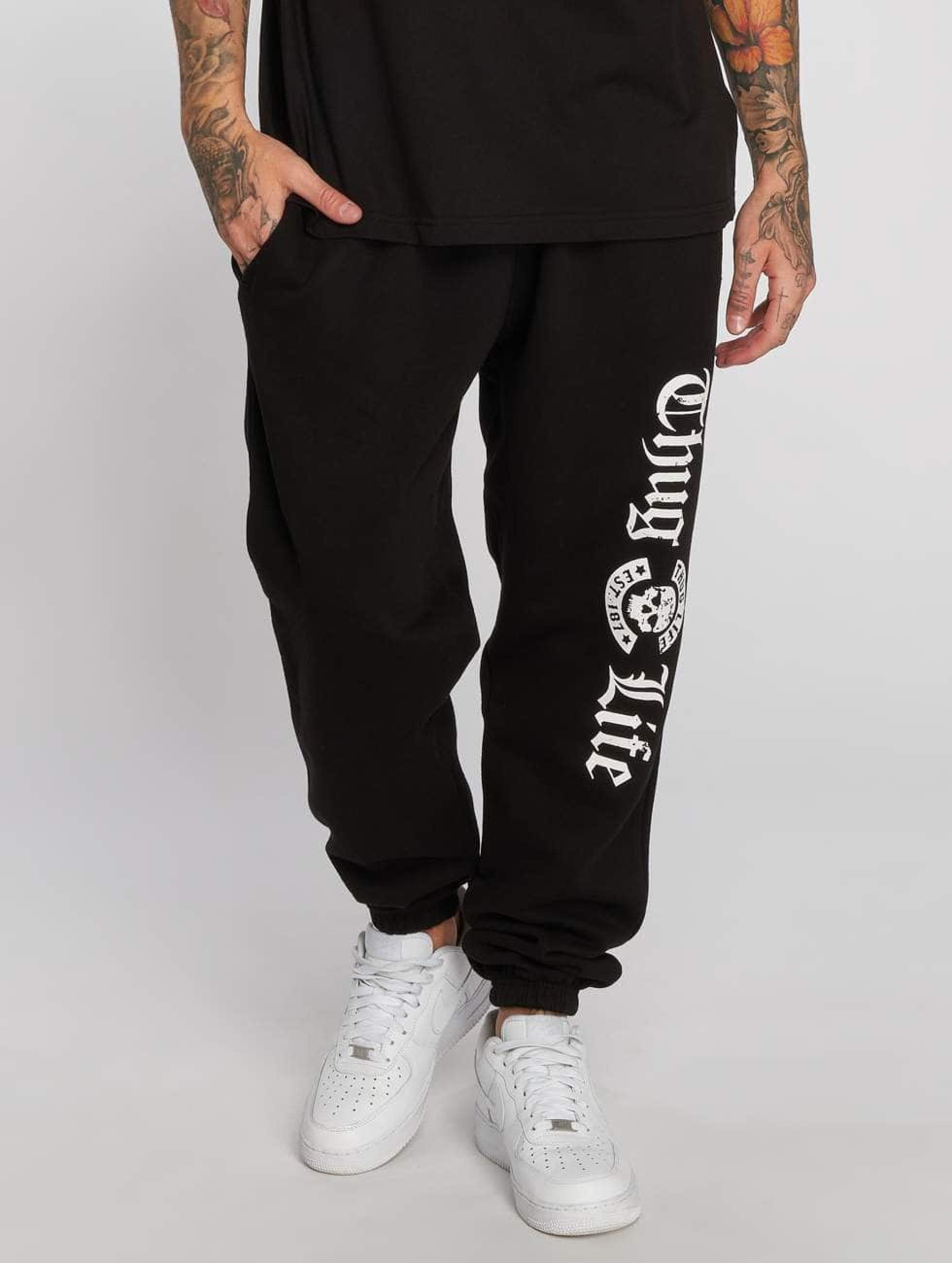 Thug Life / Sweat Pant B.Gothic p in black S