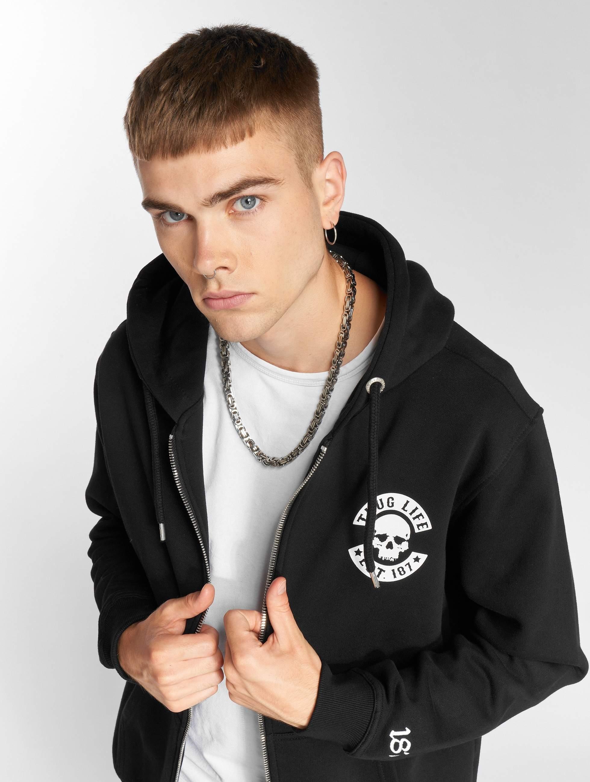 Thug Life / Zip Hoodie B.Skull in black 6XL