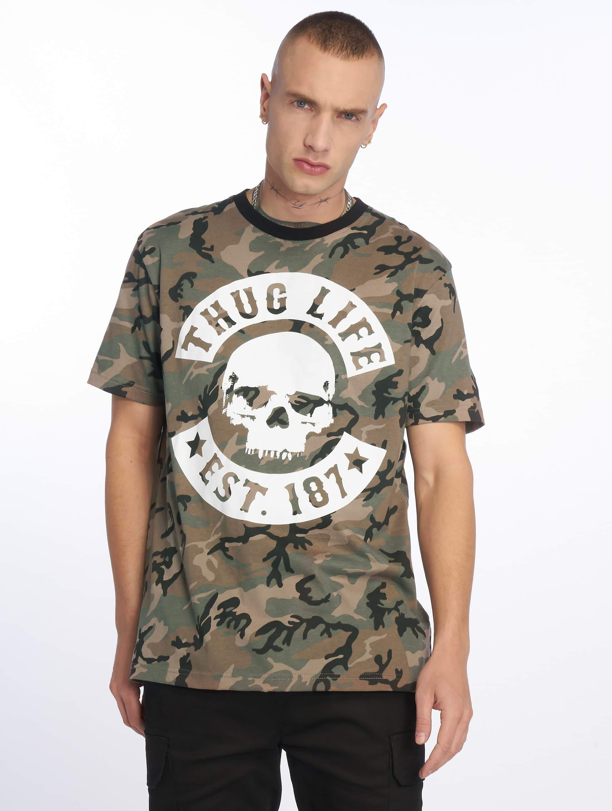 Thug Life / T-Shirt B. Camo in camouflage L