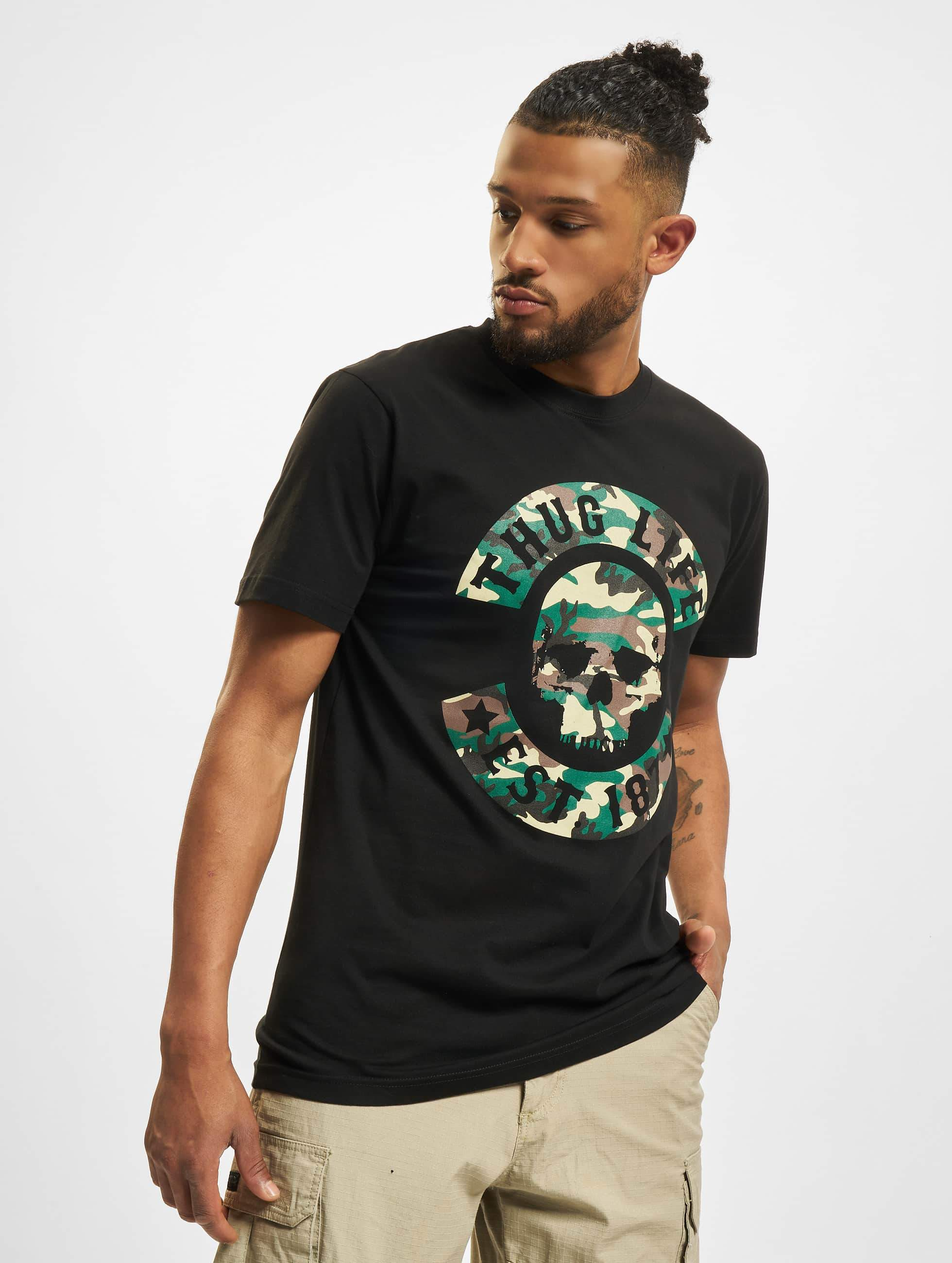Thug Life / T-Shirt B. Camo in black 3XL