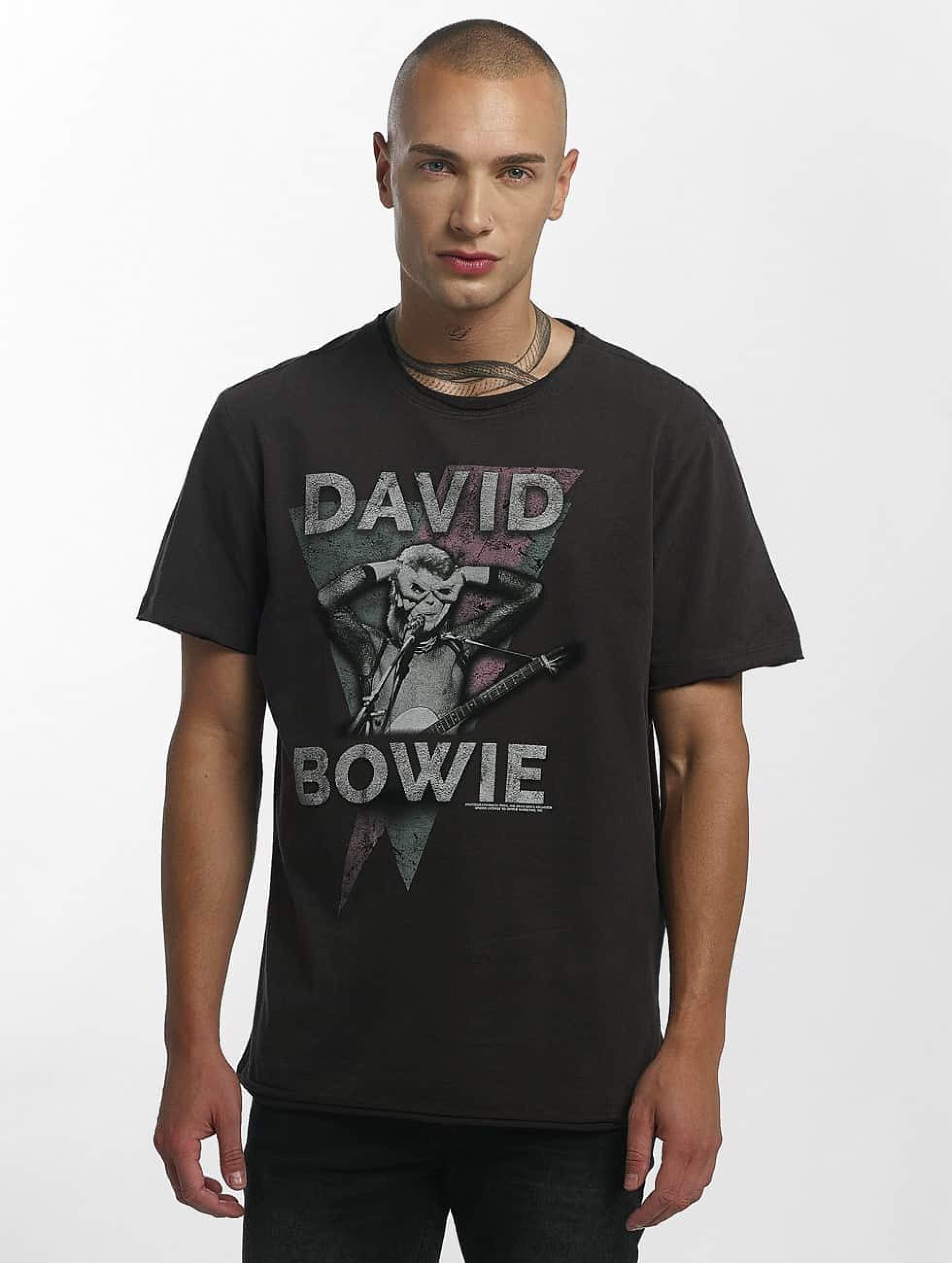 Amplified | David Bowie Look Into My Eyes gris Homme T-Shirt