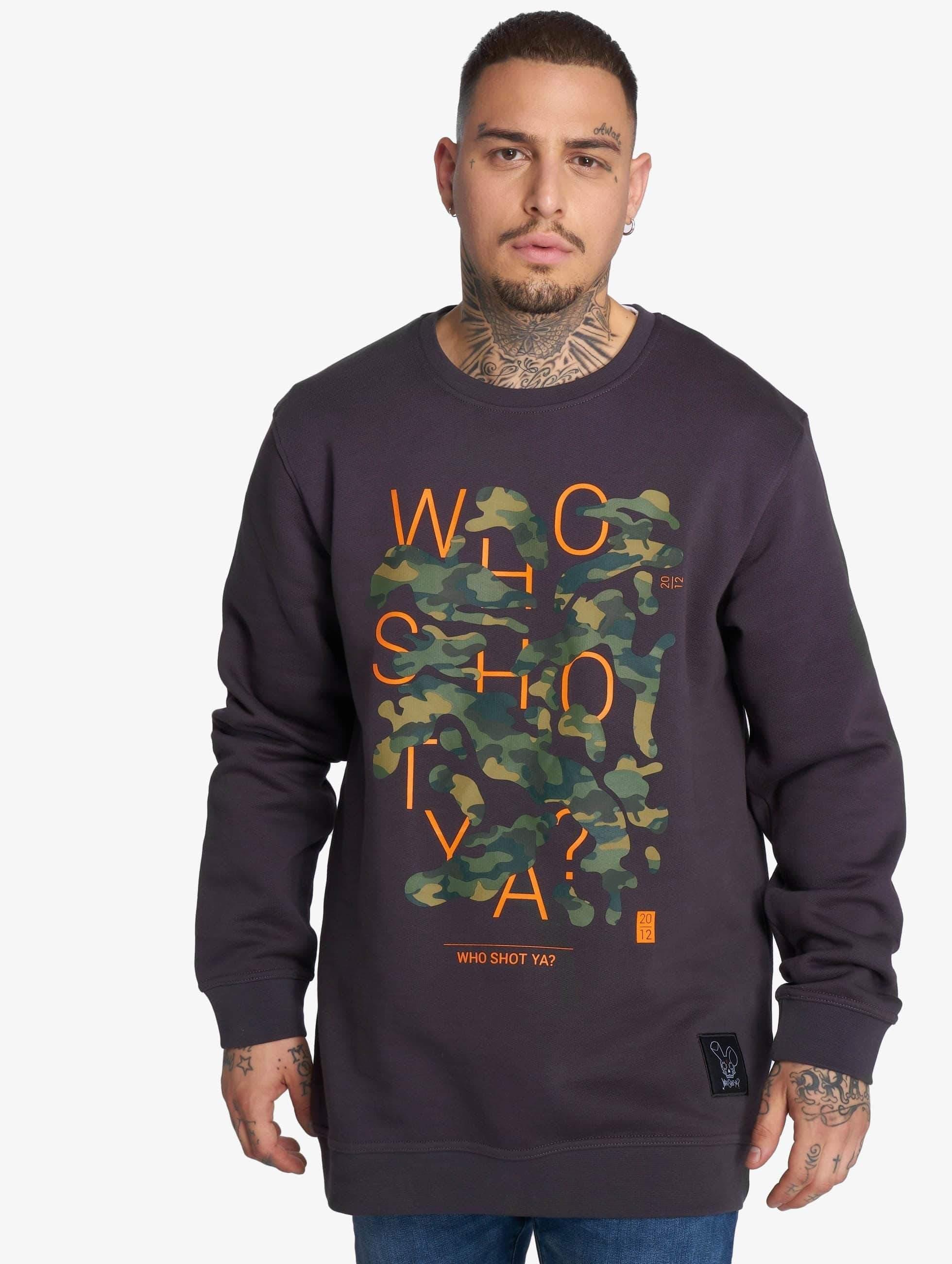 Who Shot Ya? / Jumper Shotulous in grey XL