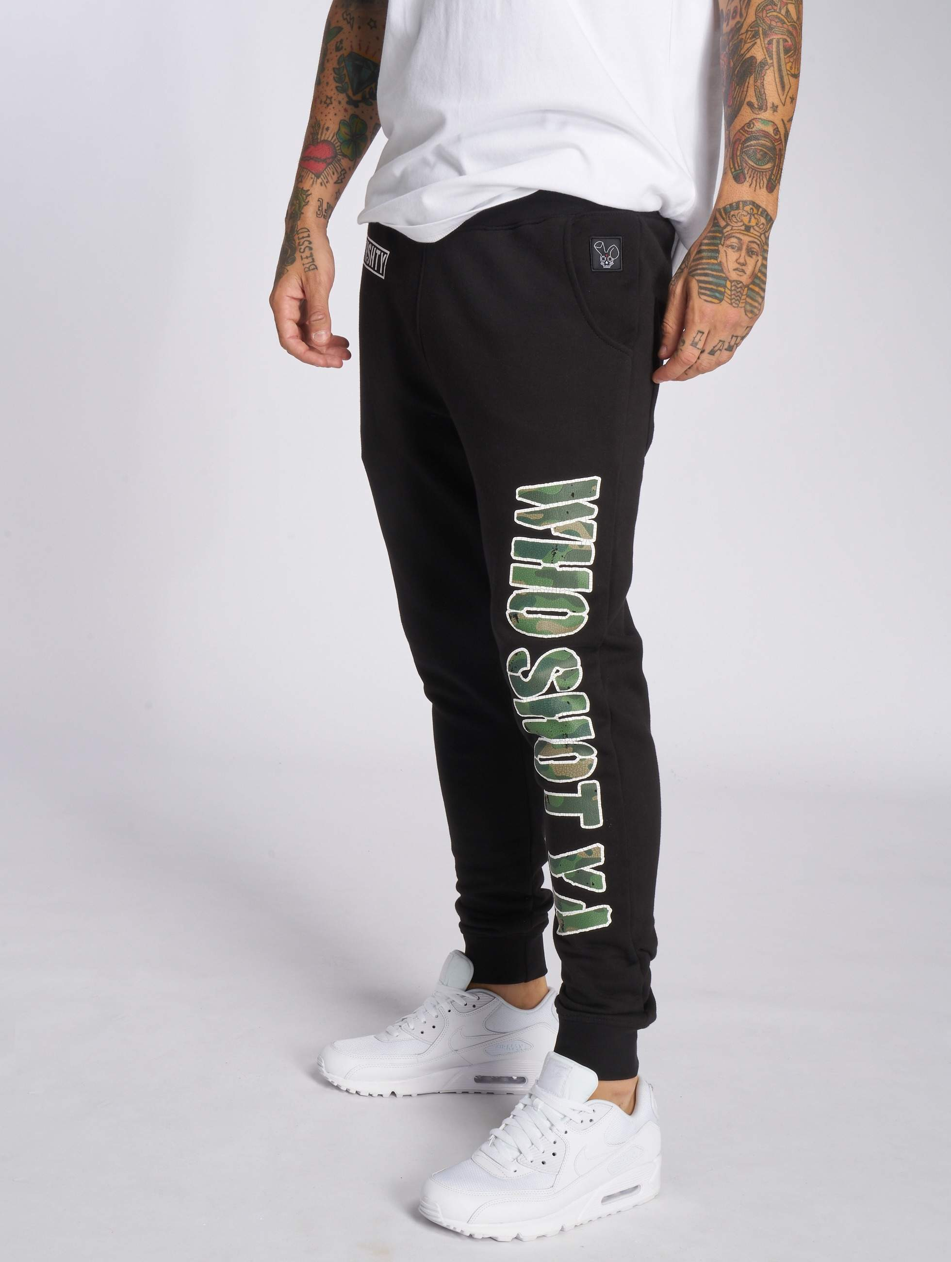 Who Shot Ya? / Sweat Pant Camou Funk in black 2XL