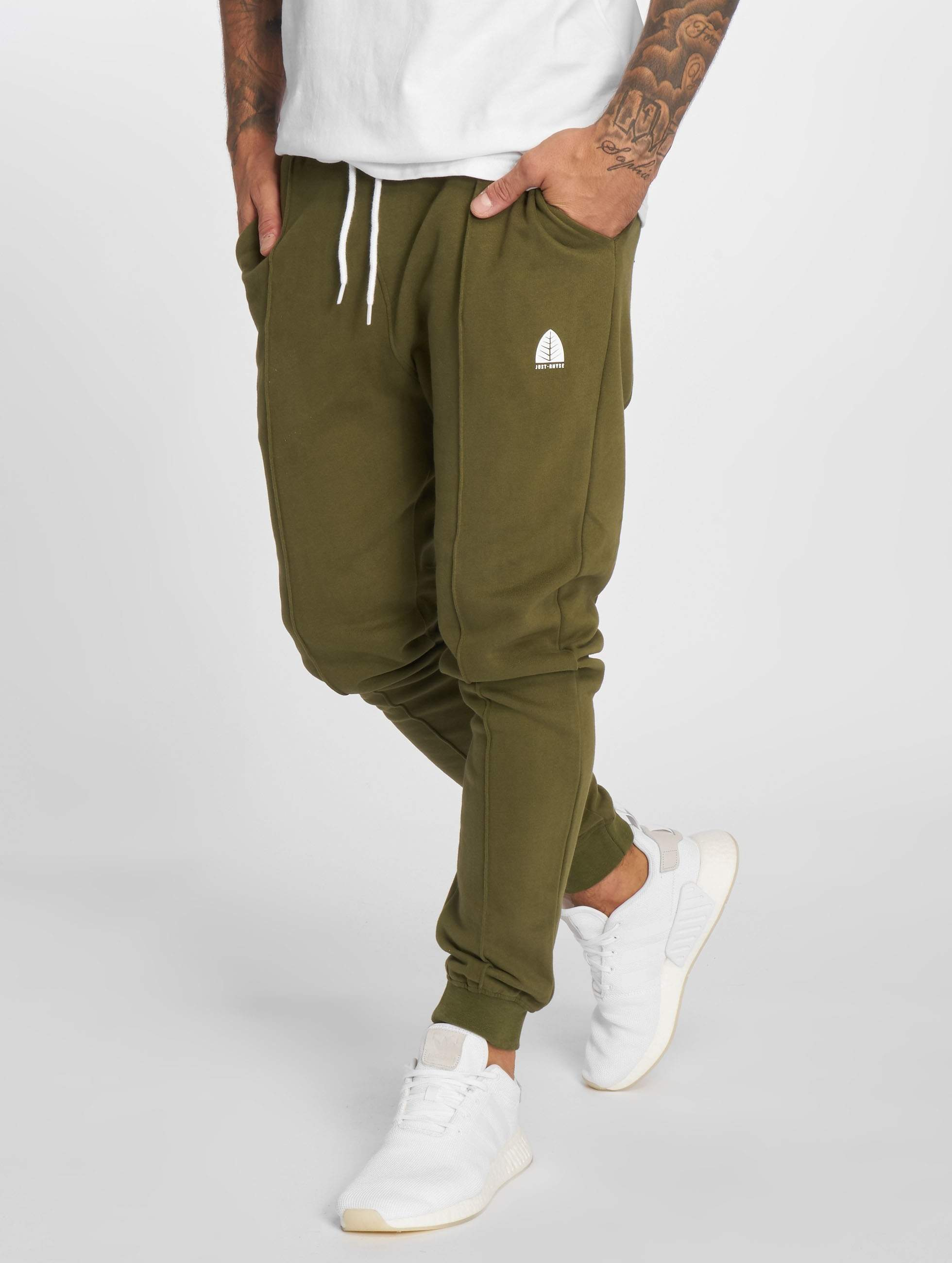 Just Rhyse / Sweat Pant Tongras in olive XL