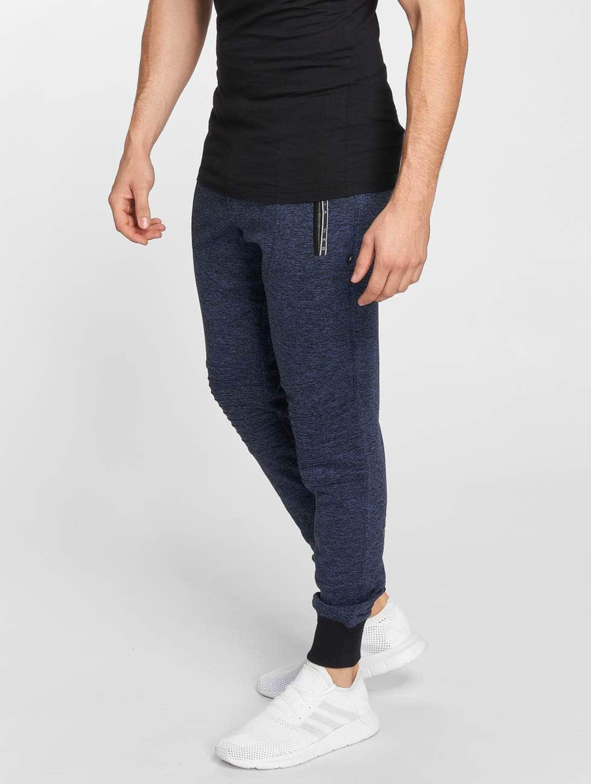 Nebbia | Quilted bleu Homme Pantalons de jogging