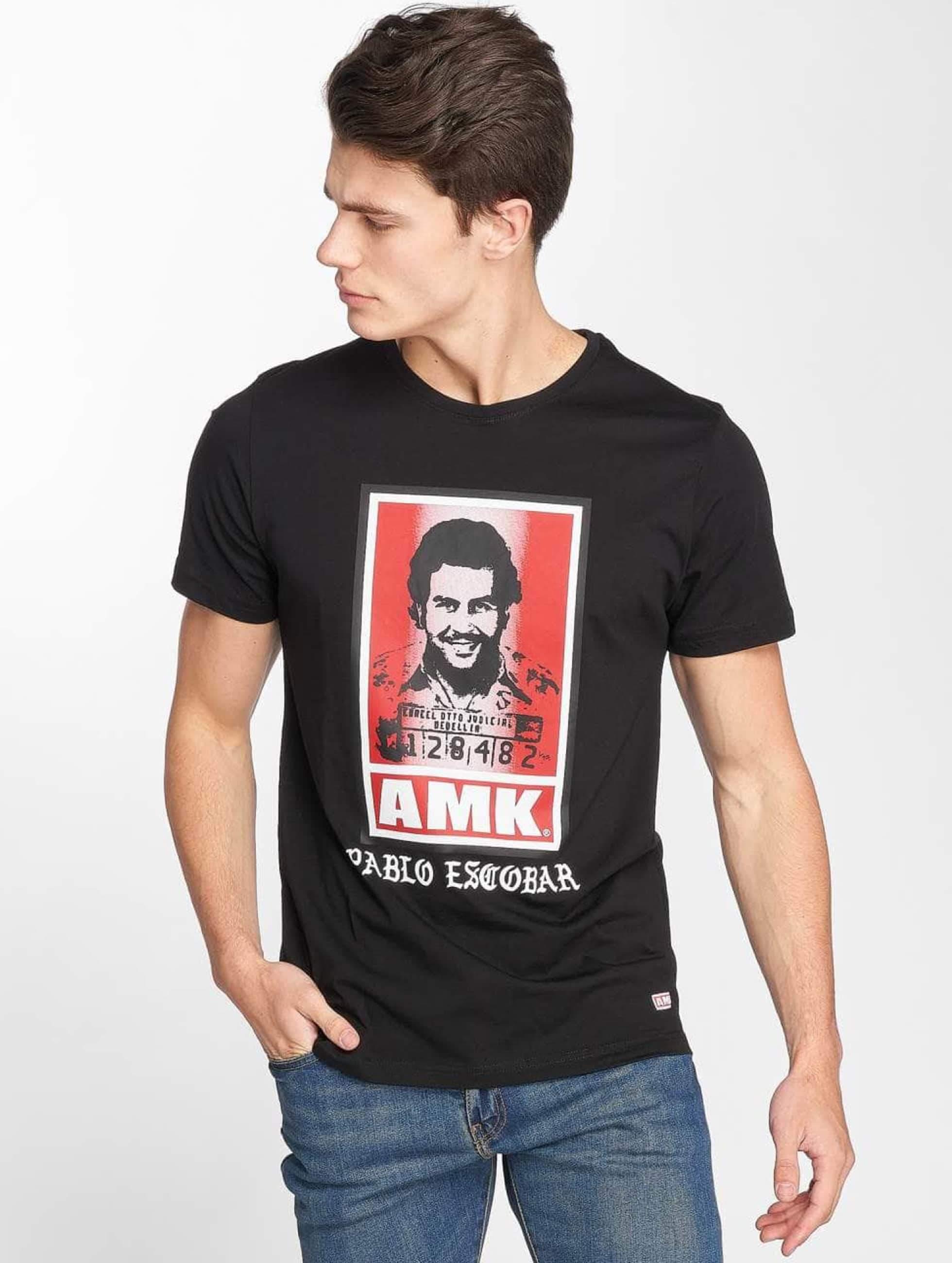 AMK | Pablo Escobar noir Homme T-Shirt