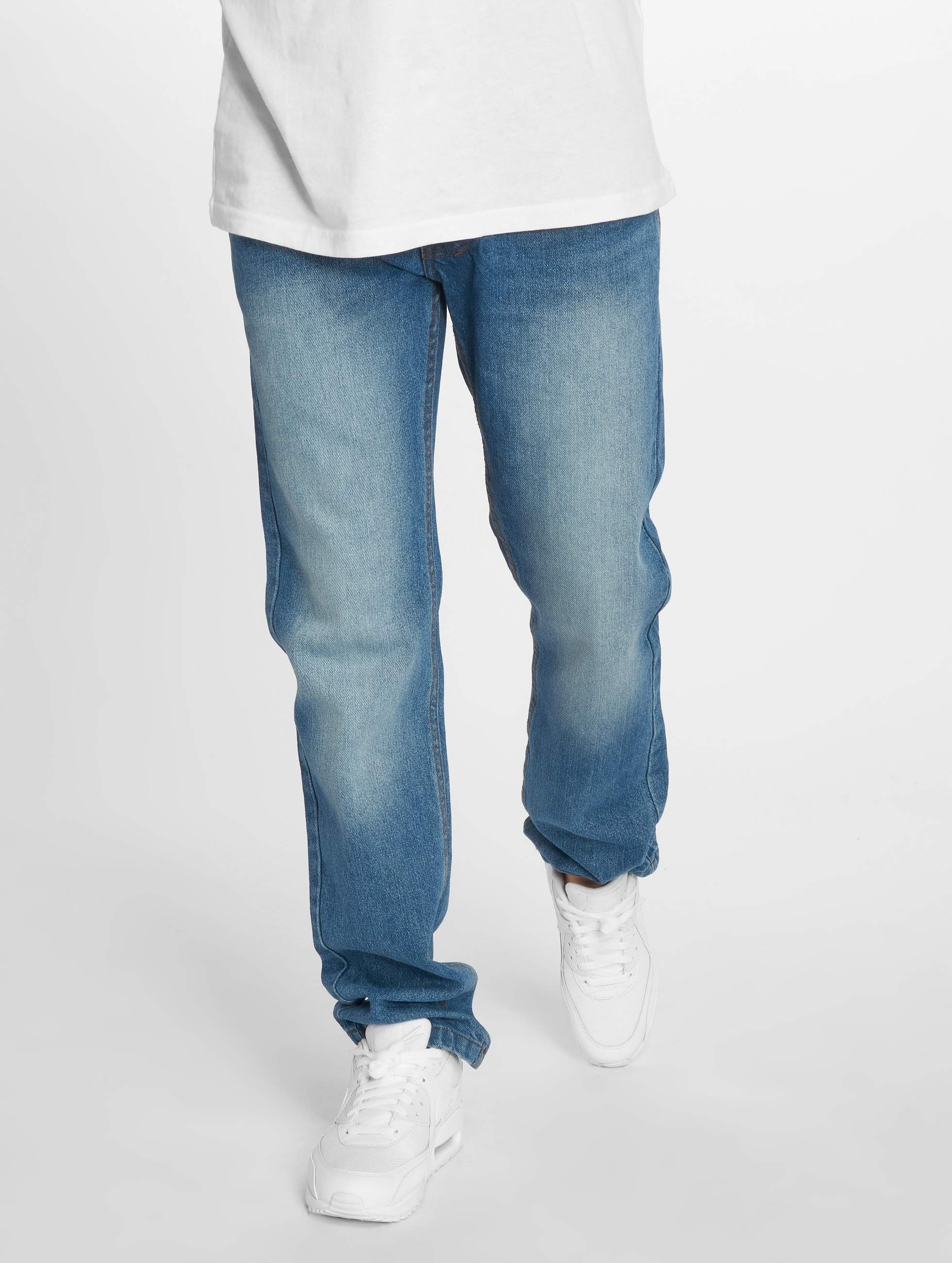 Rocawear / Straight Fit Jeans Moletro Leather Patch in blue W 32