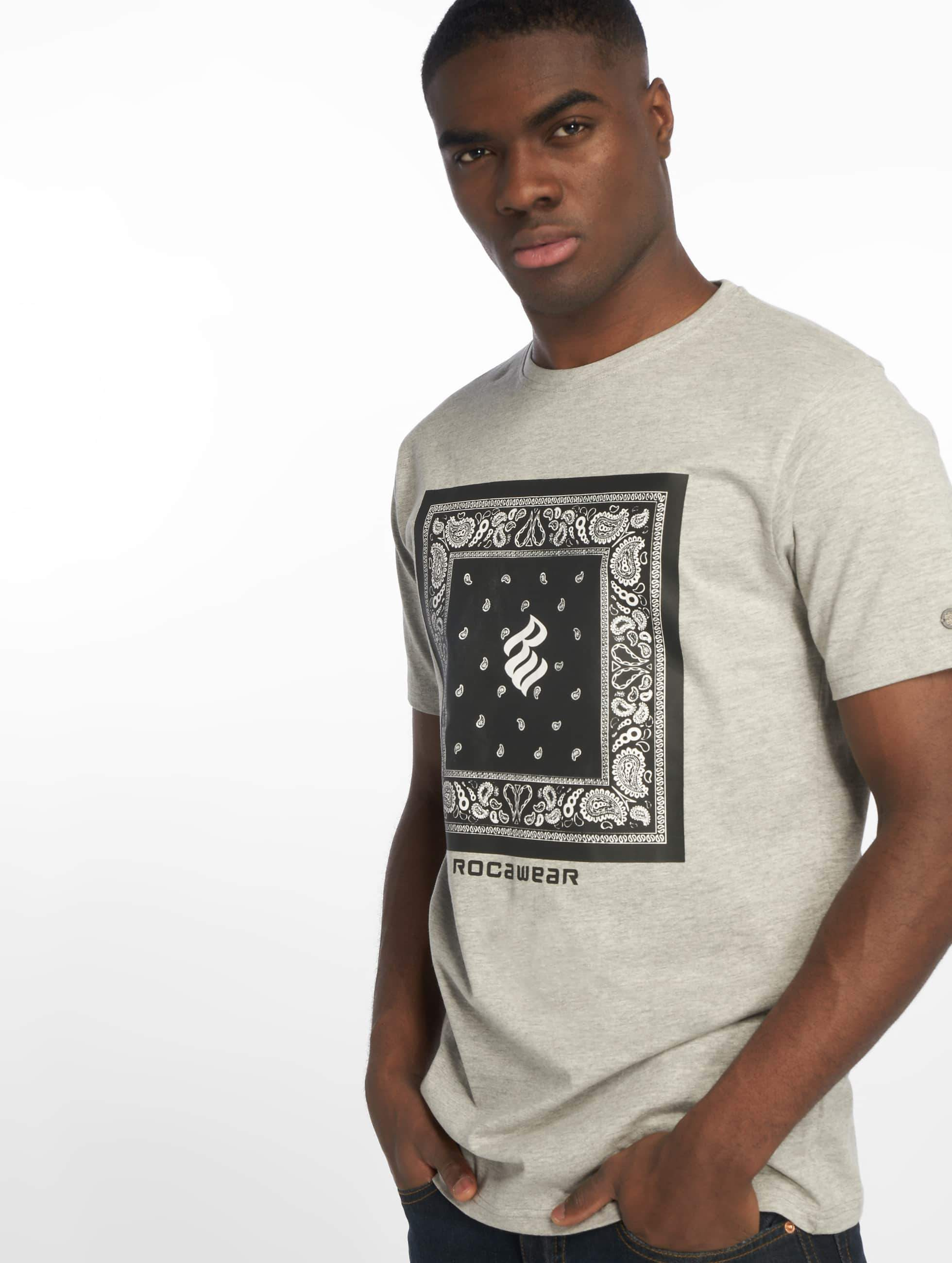 Rocawear / T-Shirt Bandana in grey M