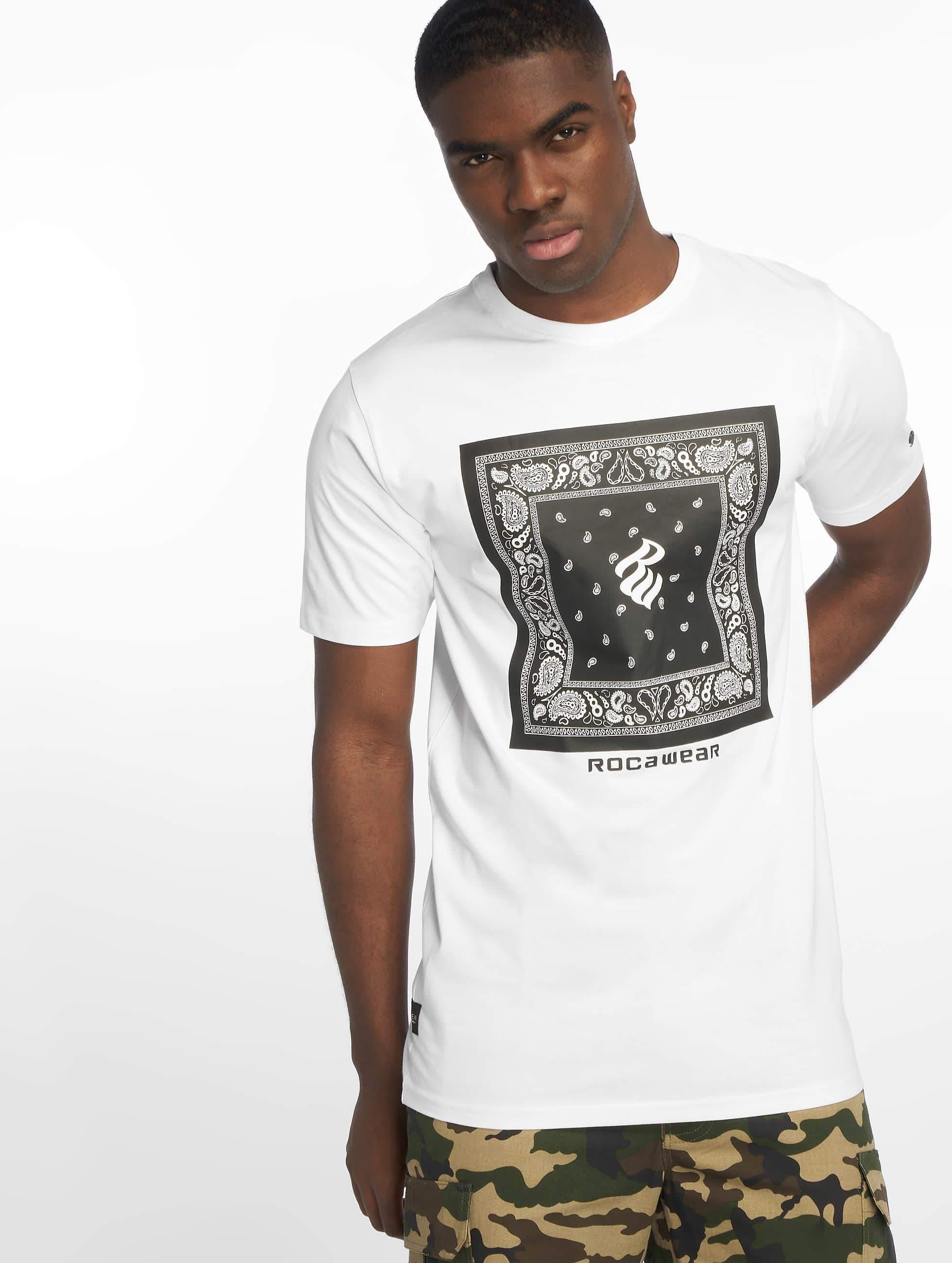 Rocawear / T-Shirt Bandana in white XL