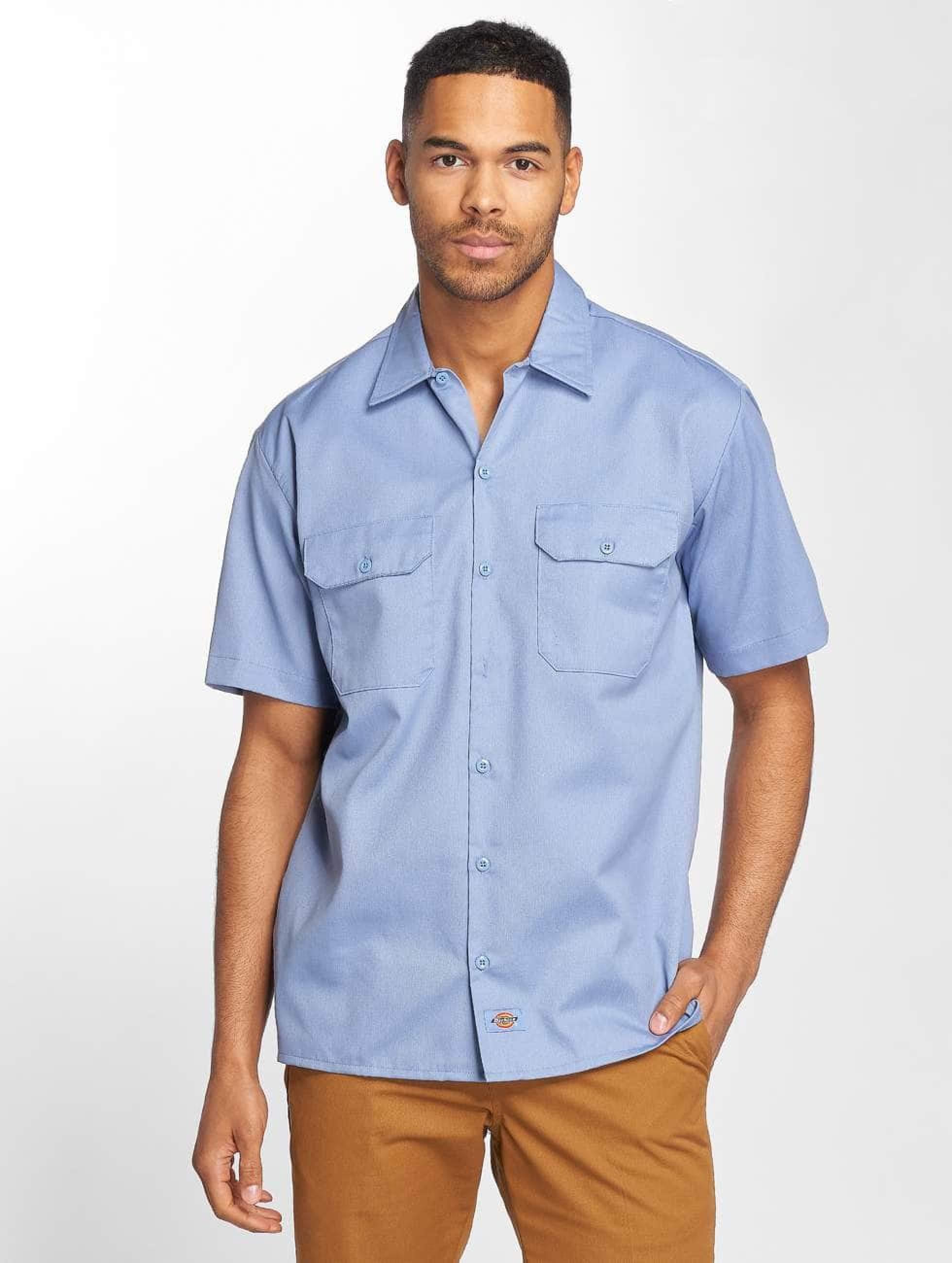 Dickies Männer Hemd Shorts Sleeve in blau