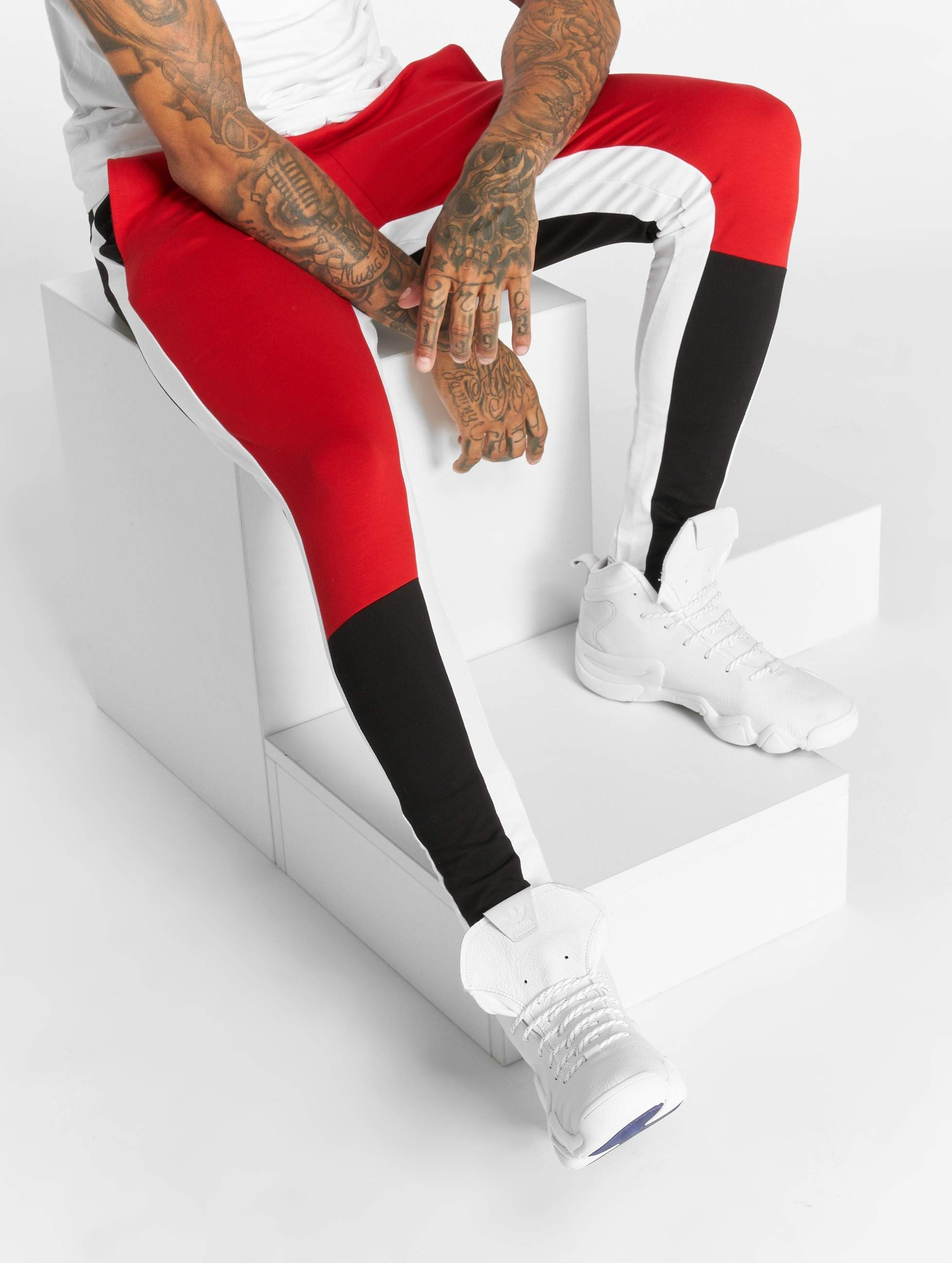Bangastic / Sweat Pant Stripes in red 3XL