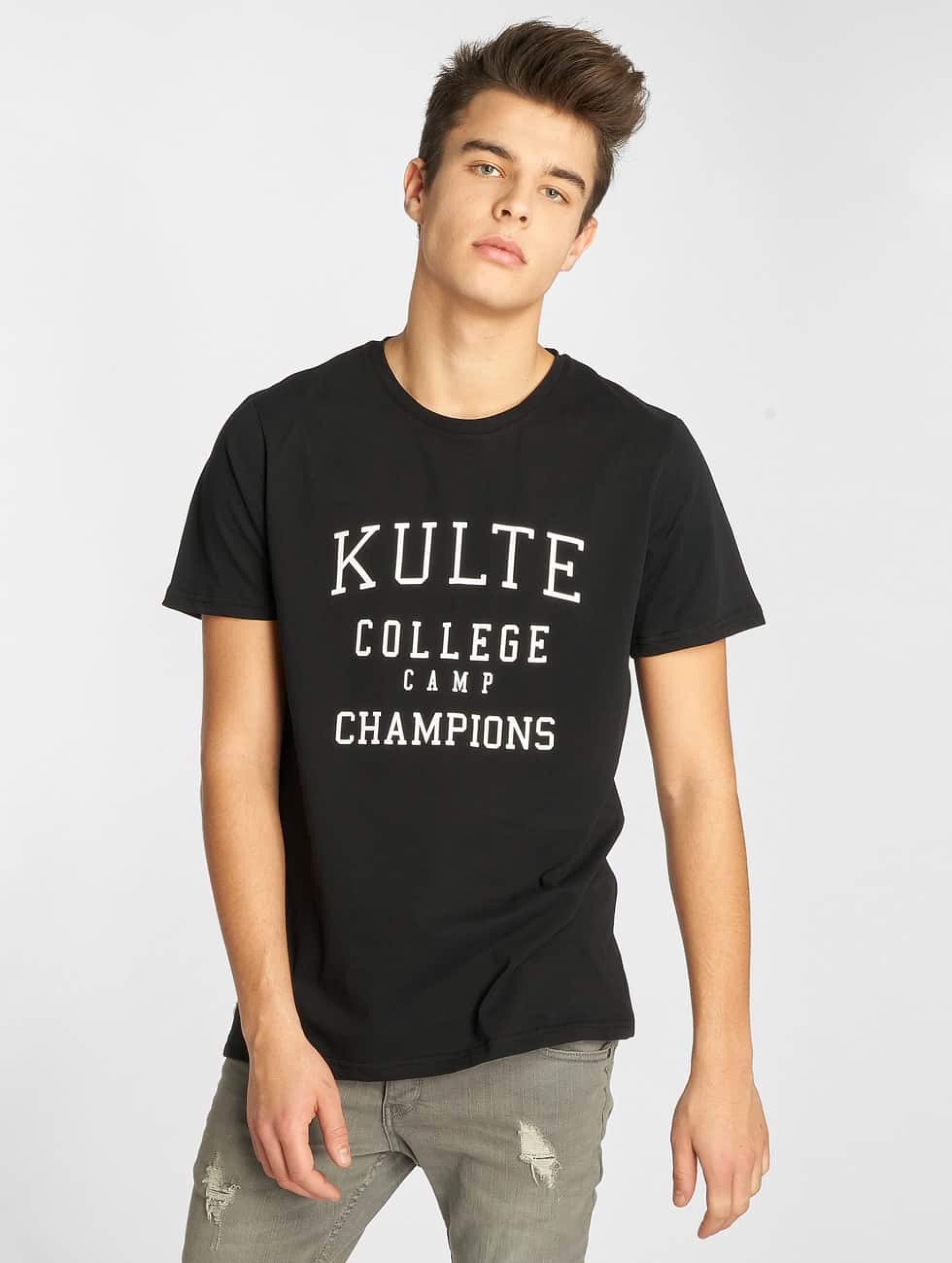 Kulte   Corpo College Champion noir Homme T-Shirt