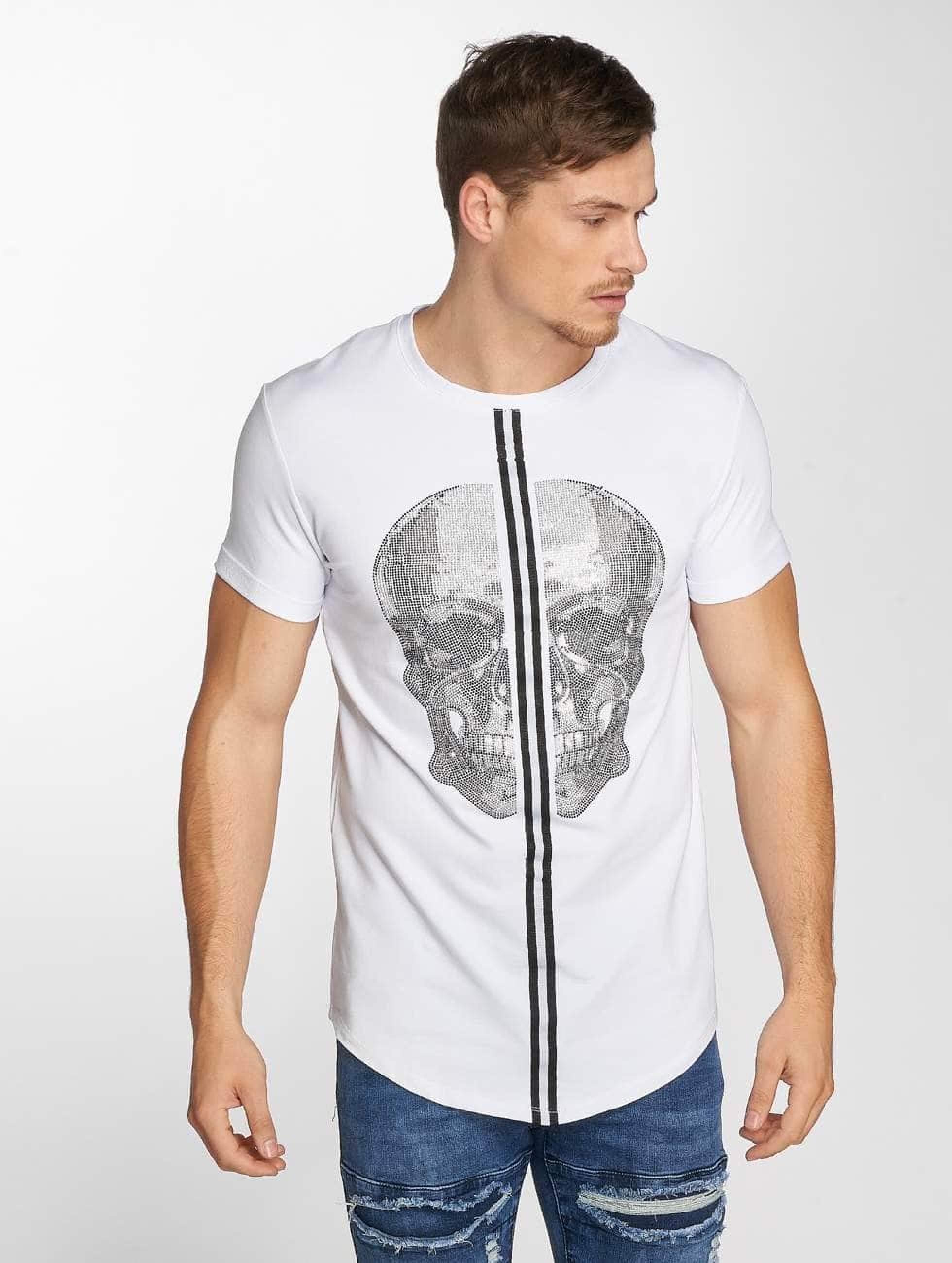 Aarhon   Skull blanc Homme T-Shirt