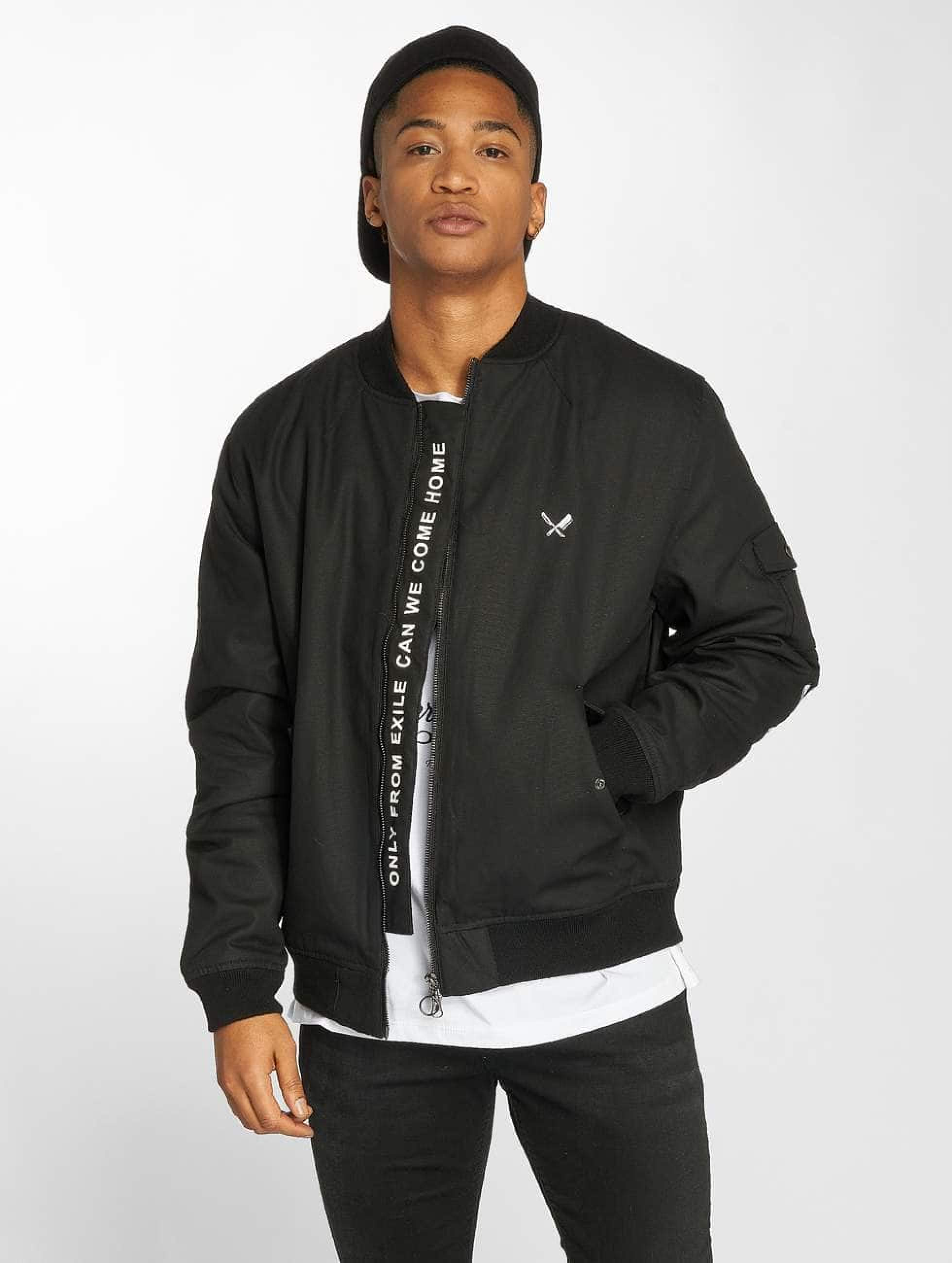 Distorted People | Black Tribe Patched noir Homme Bomber