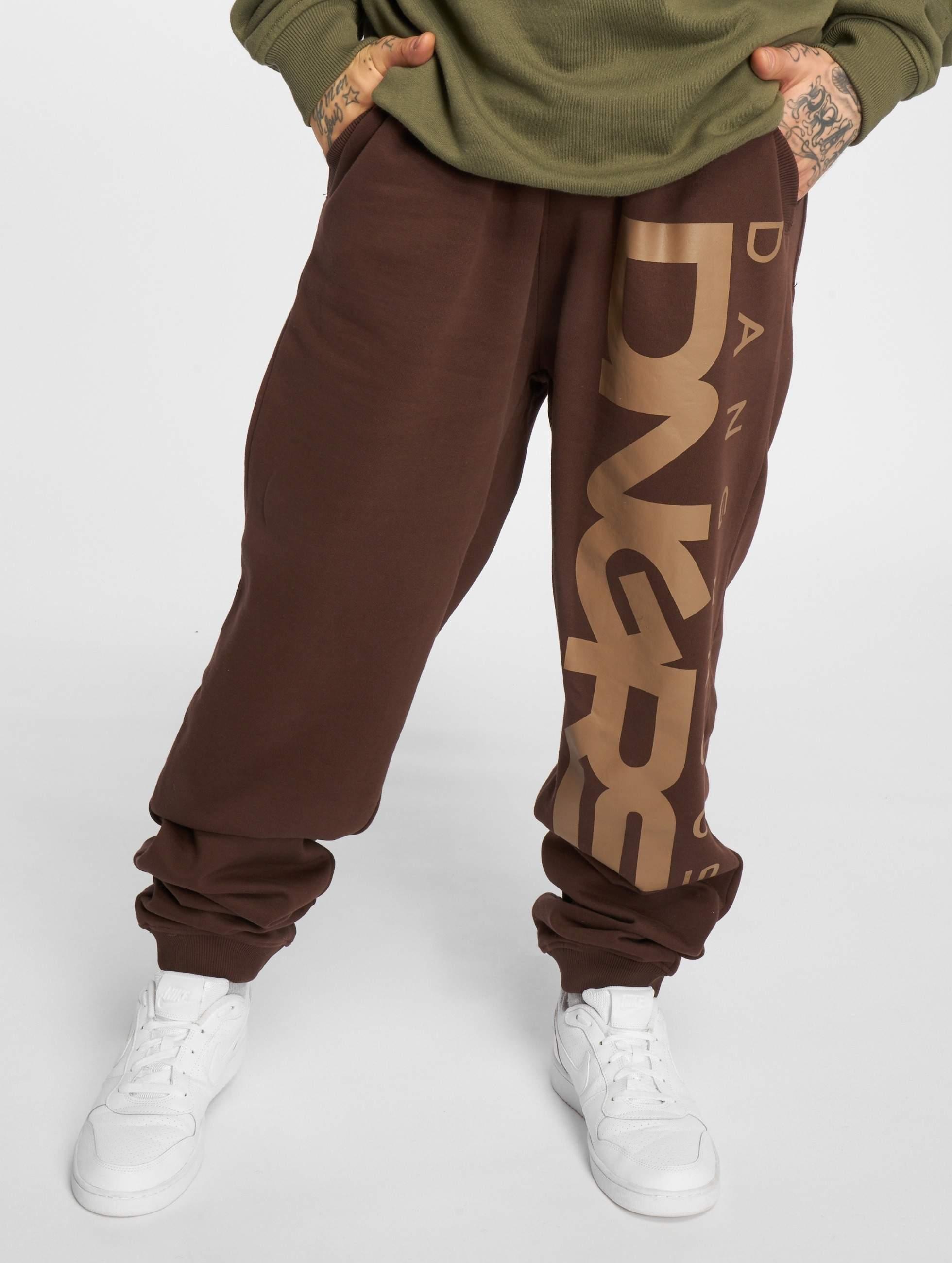 Dangerous DNGRS / Sweat Pant Classic in brown 6XL