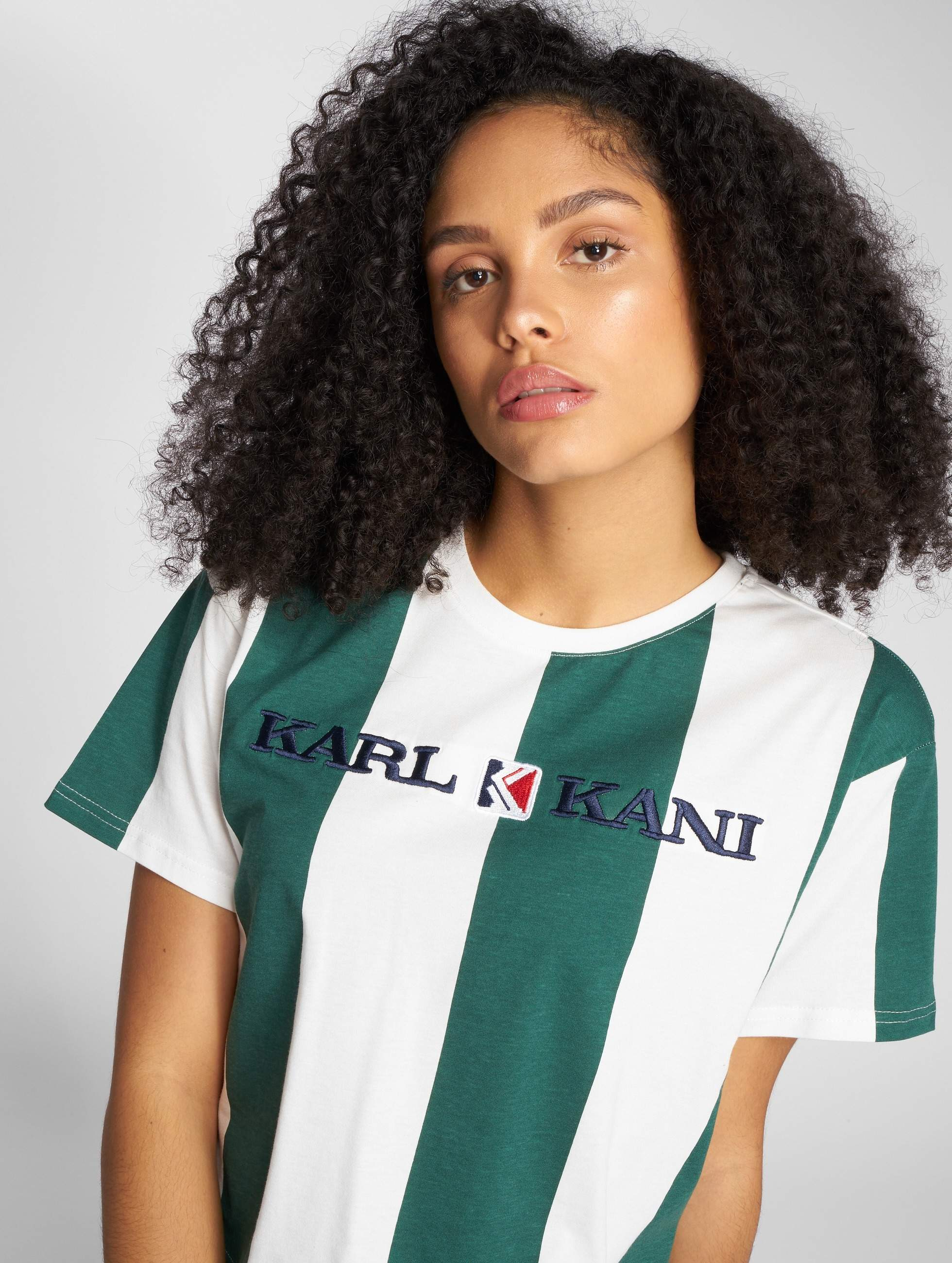 Karl Kani | Retro Stripe vert Femme T-Shirt
