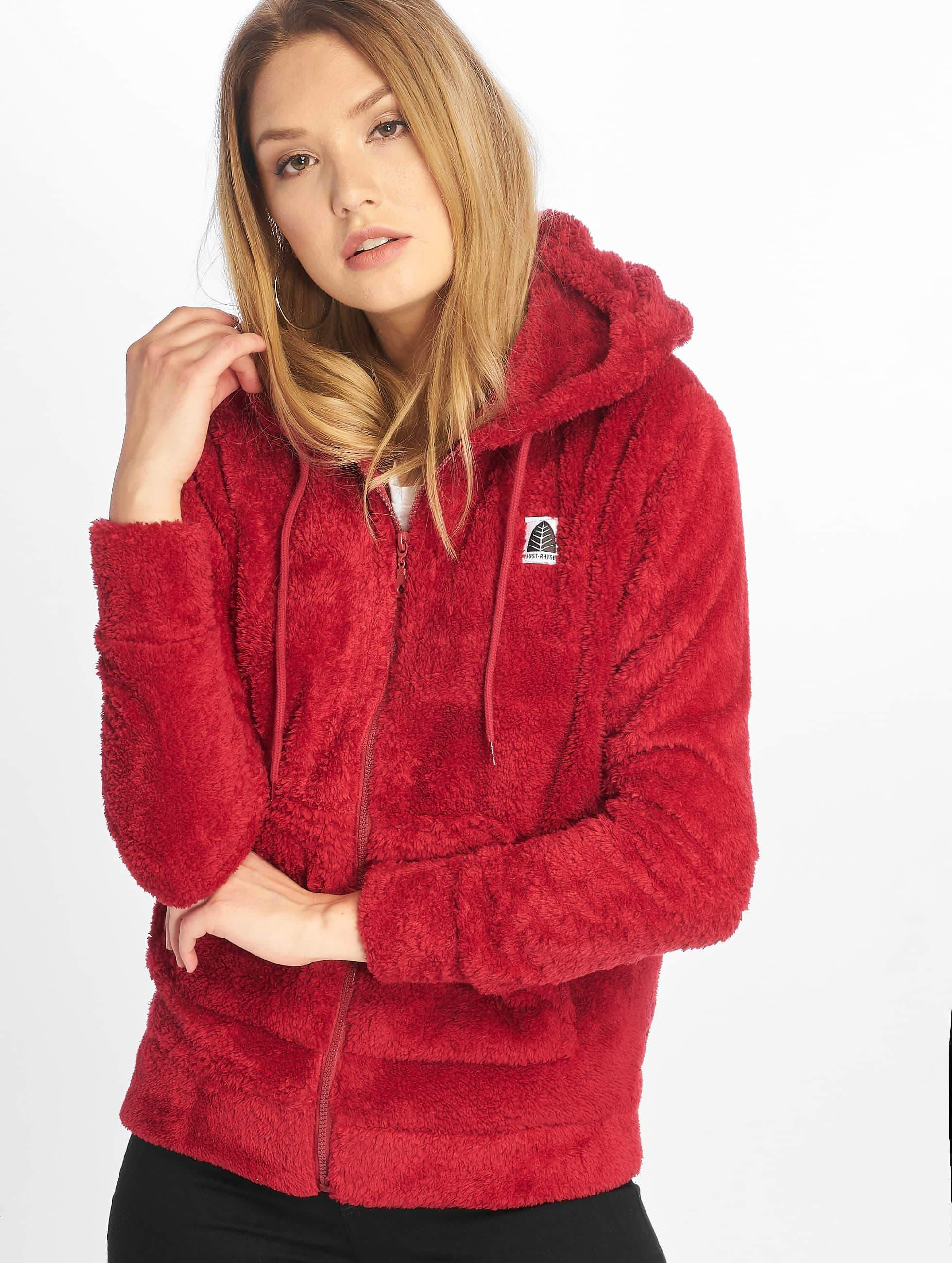 Just Rhyse / Zip Hoodie Arequipa in red XS