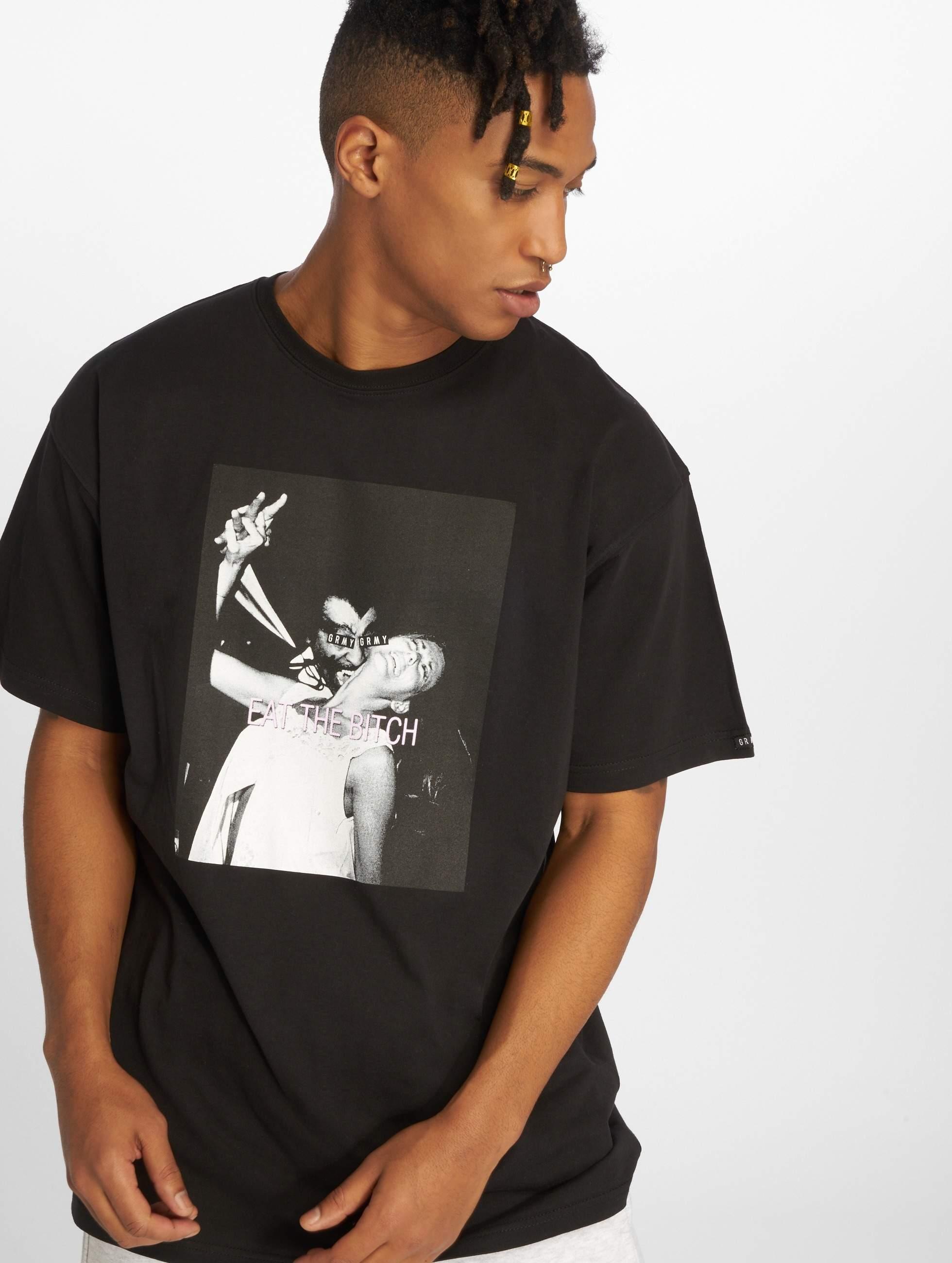 Grimey Wear   Eat The Bitch noir Homme T-Shirt