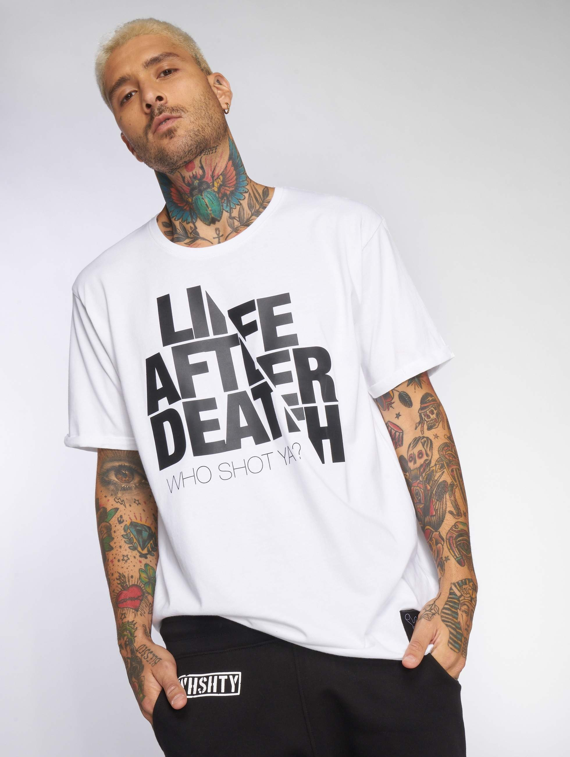Who Shot Ya? / T-Shirt Life after death in white 2XL