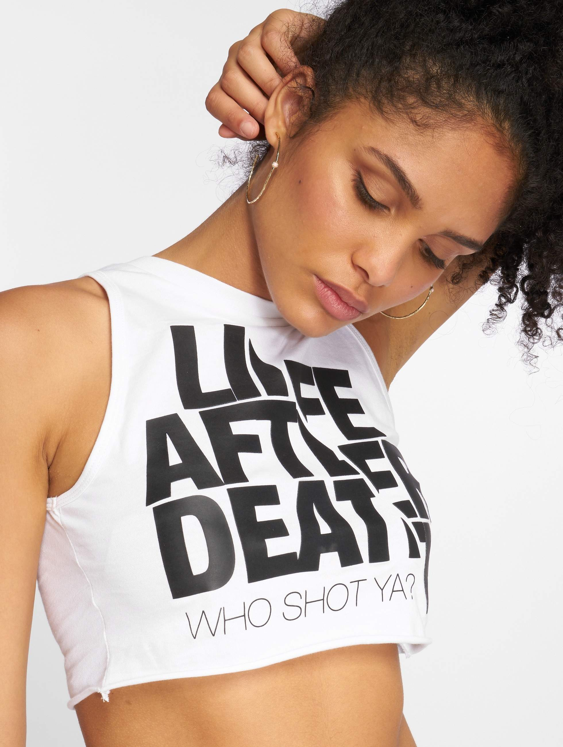 Who Shot Ya? / Tank Tops Life after death in white L
