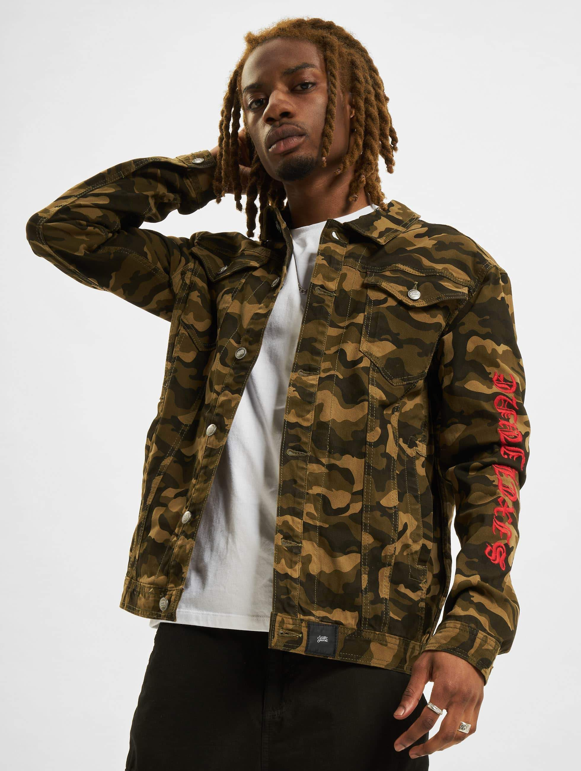Sixth June Camouflage Jeans Jacke
