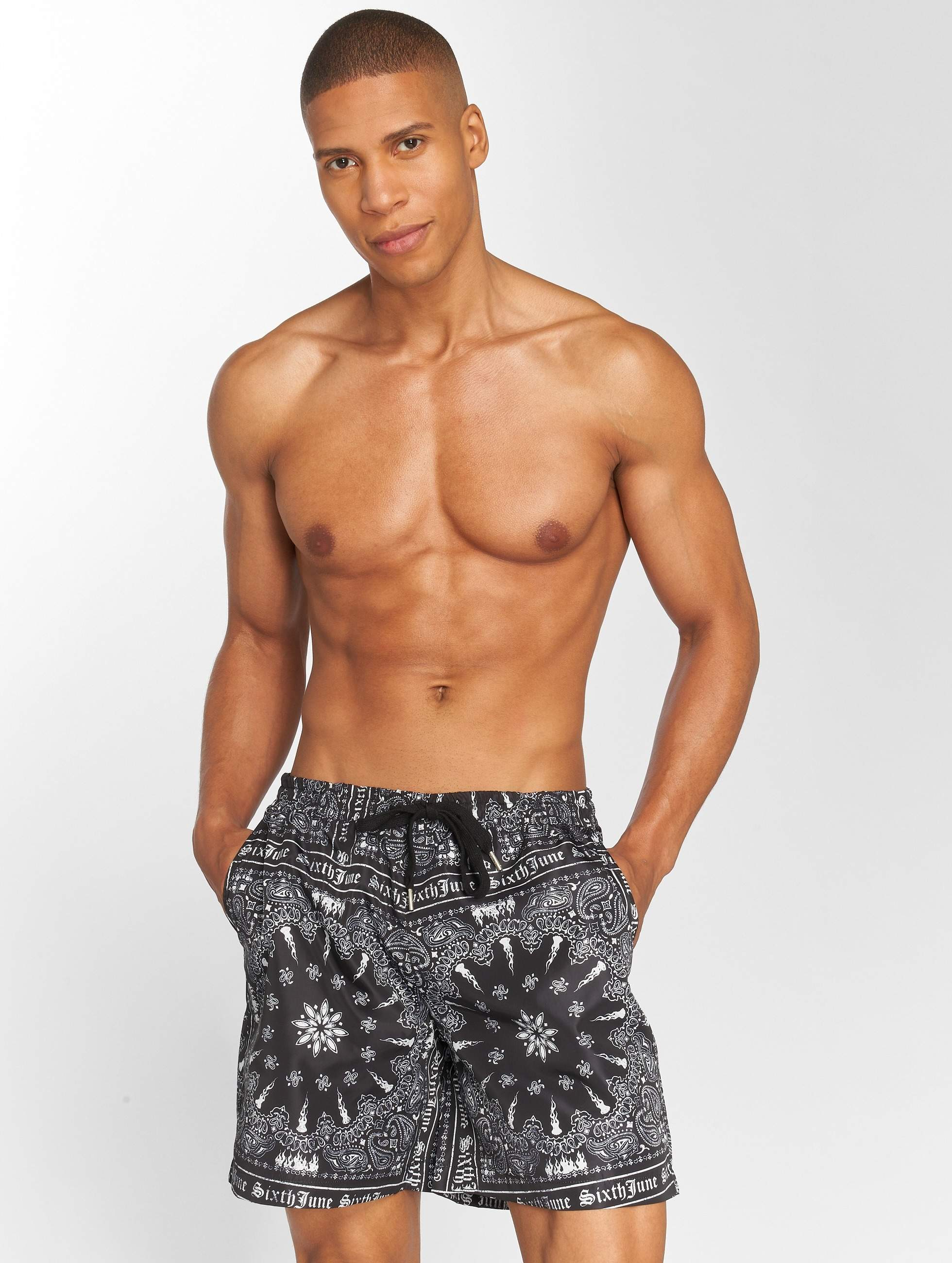 Sixth June | Bandana noir Homme Short de bain