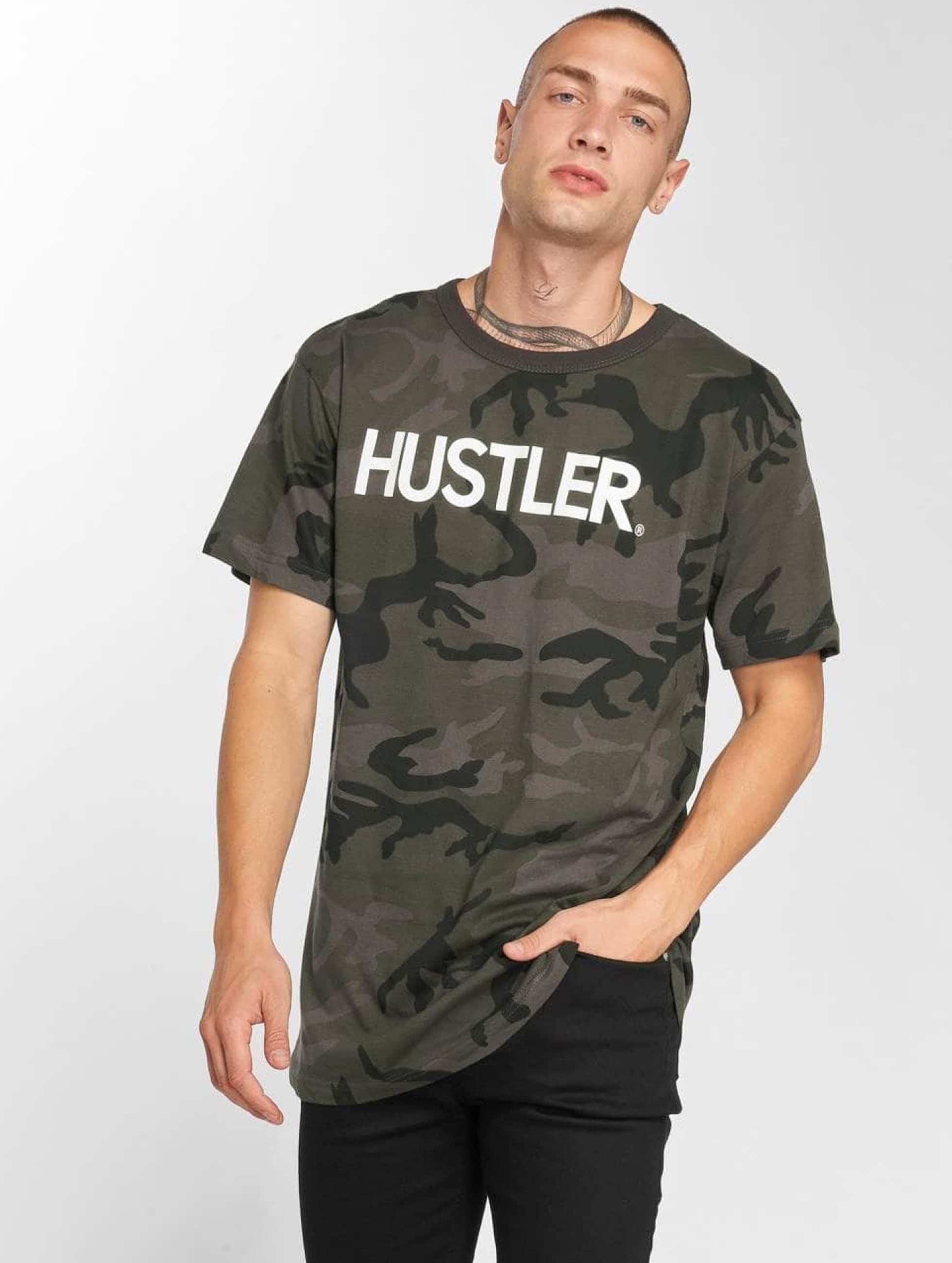 Merchcode | Hustler Logo Camo camouflage Homme T-Shirt