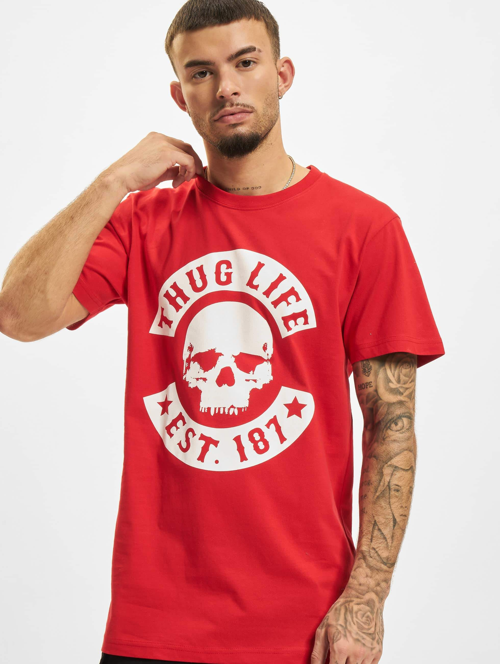 Thug Life / T-Shirt B.Skull in red 5XL
