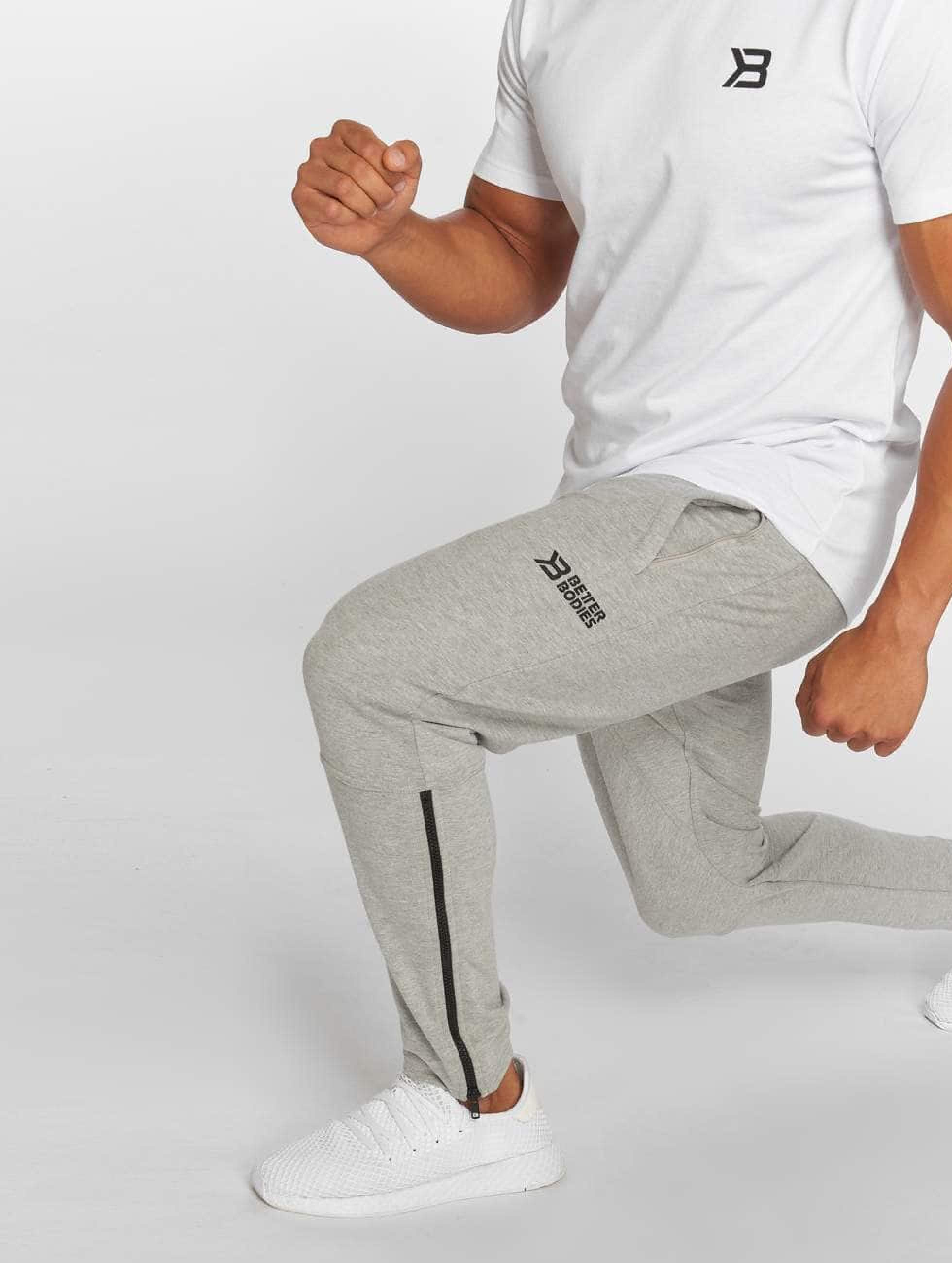 Better Bodies | Harlem gris Homme Pantalons de jogging